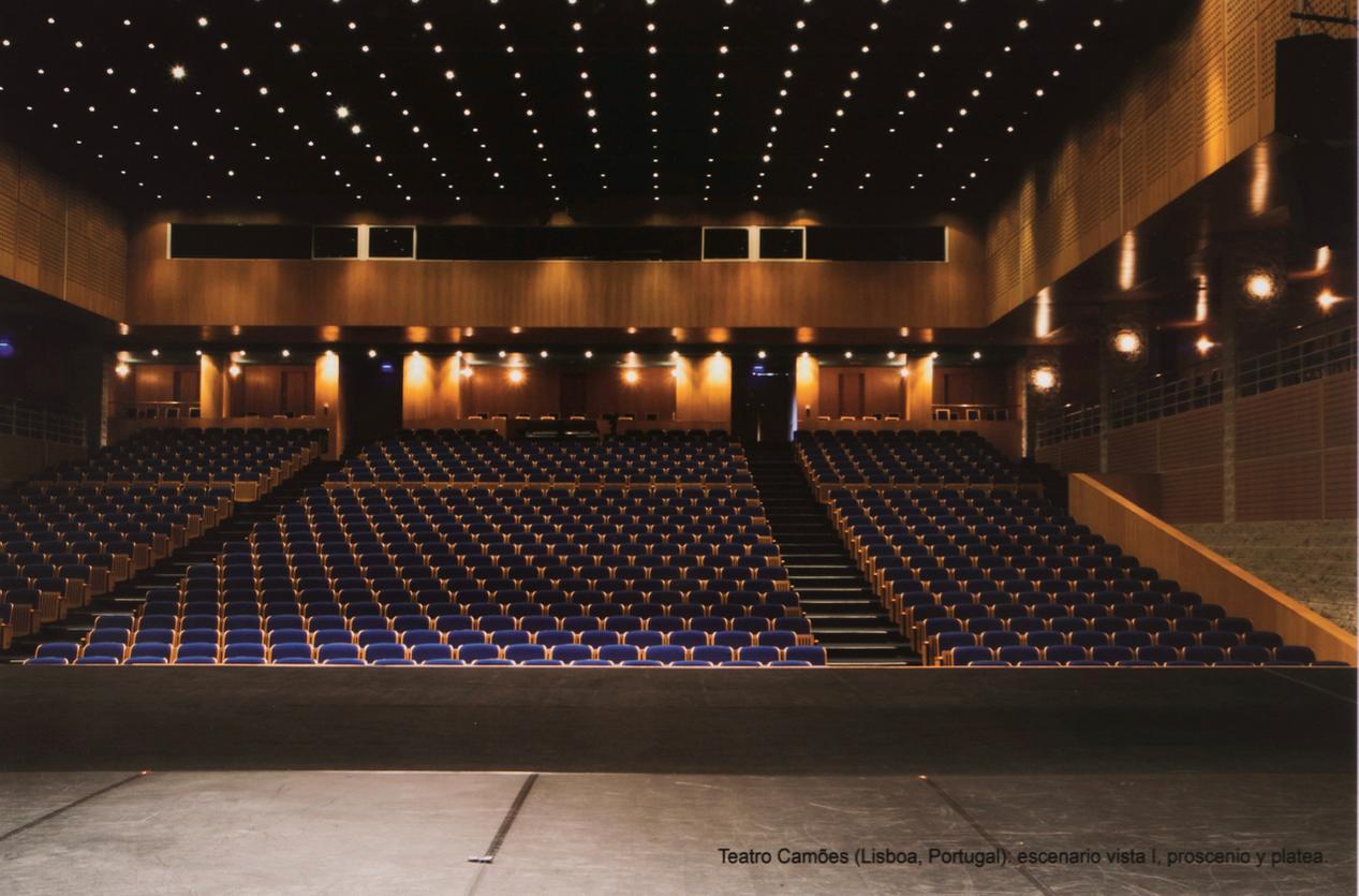 Javier Nunez Gasco-Teatro Camoes (Lisboa, Portugal): Escenario Vista I, Proscenio y Platea-2012