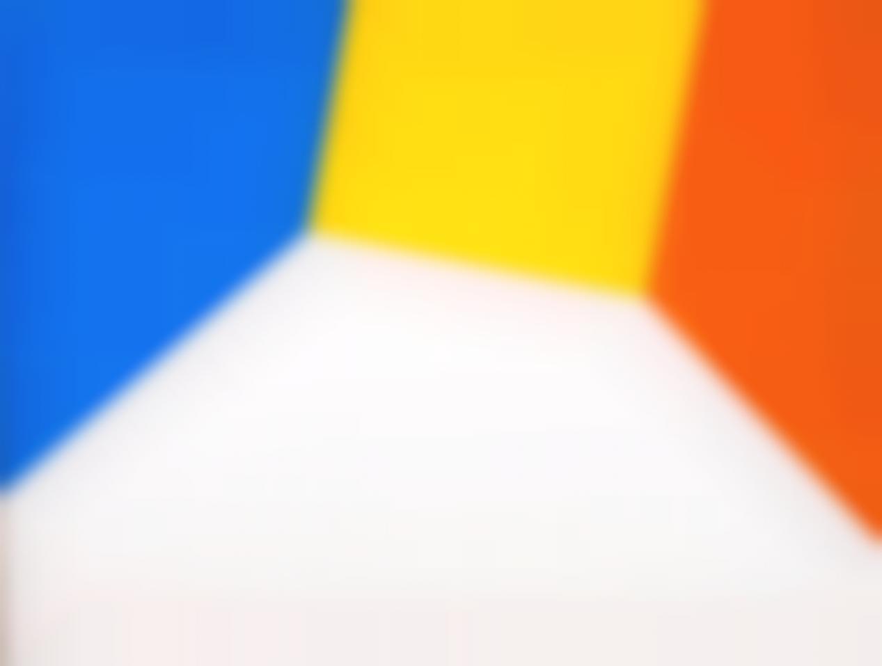 Angelo de Sousa-Grande Fragmento no.3 Azul Amarelo Laranja e Branco-