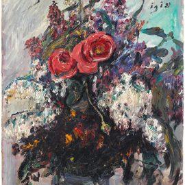 Lovis Corinth-Rosen Und Flieder-1918