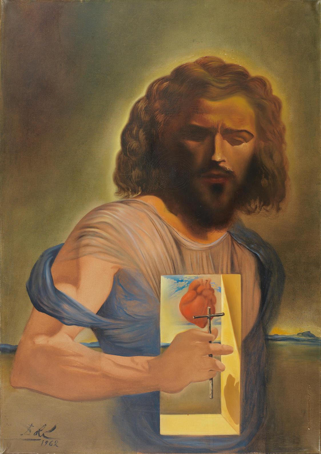 Salvador Dali-Coeur-Sacre De Jesus-1962