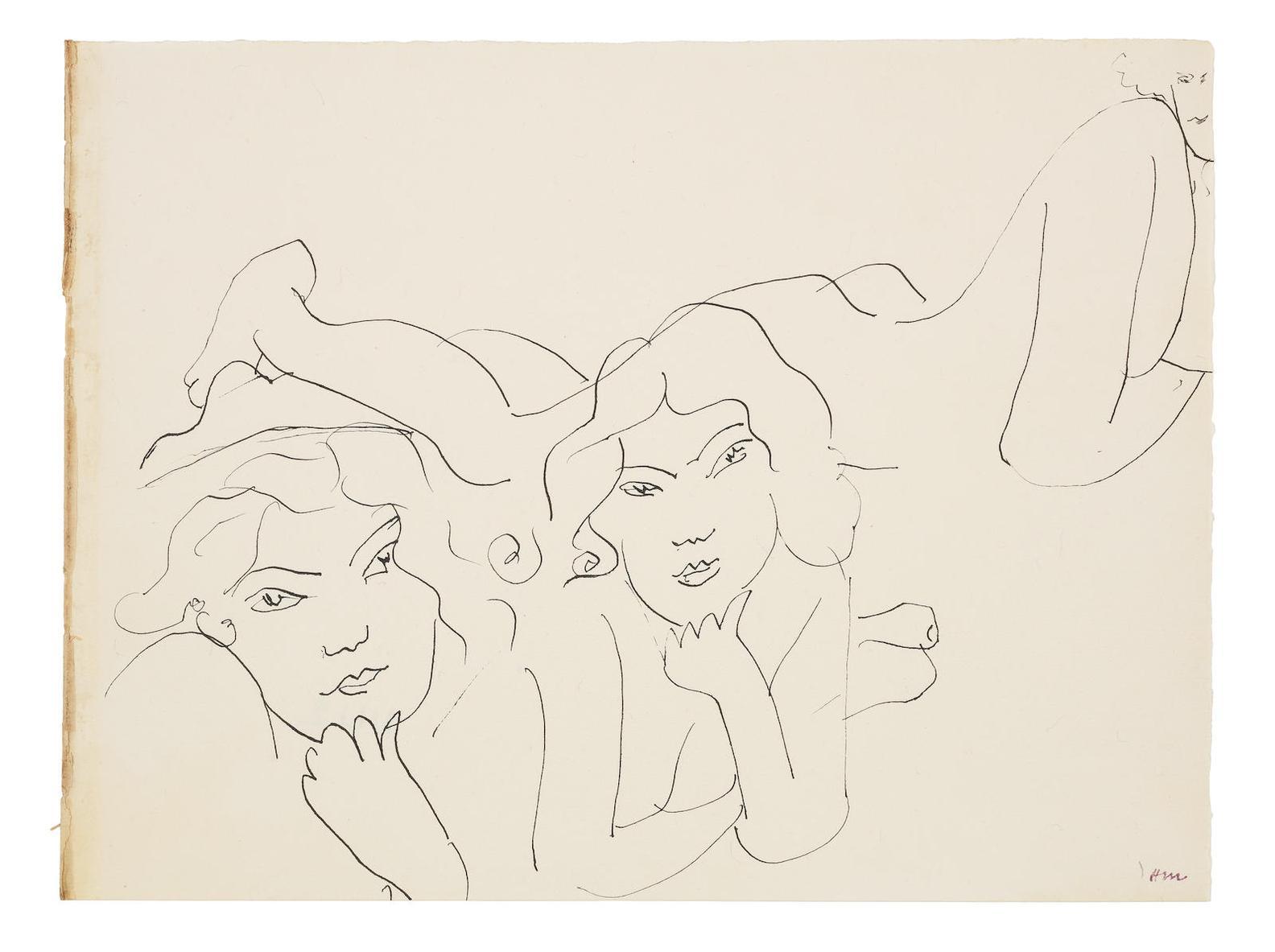 Henri Matisse-Trois Femmes Allongees-1931