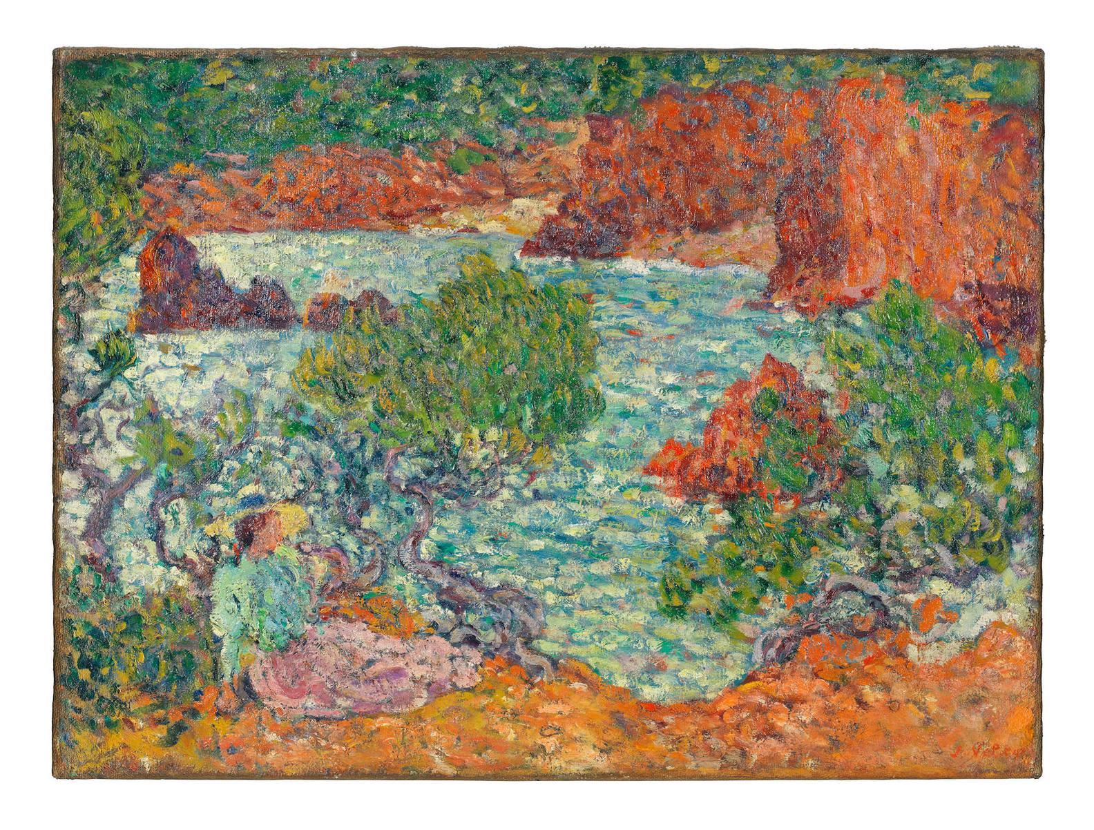 Louis Valtat-Femme Sur Les Rochers Rouges, Agay-1900