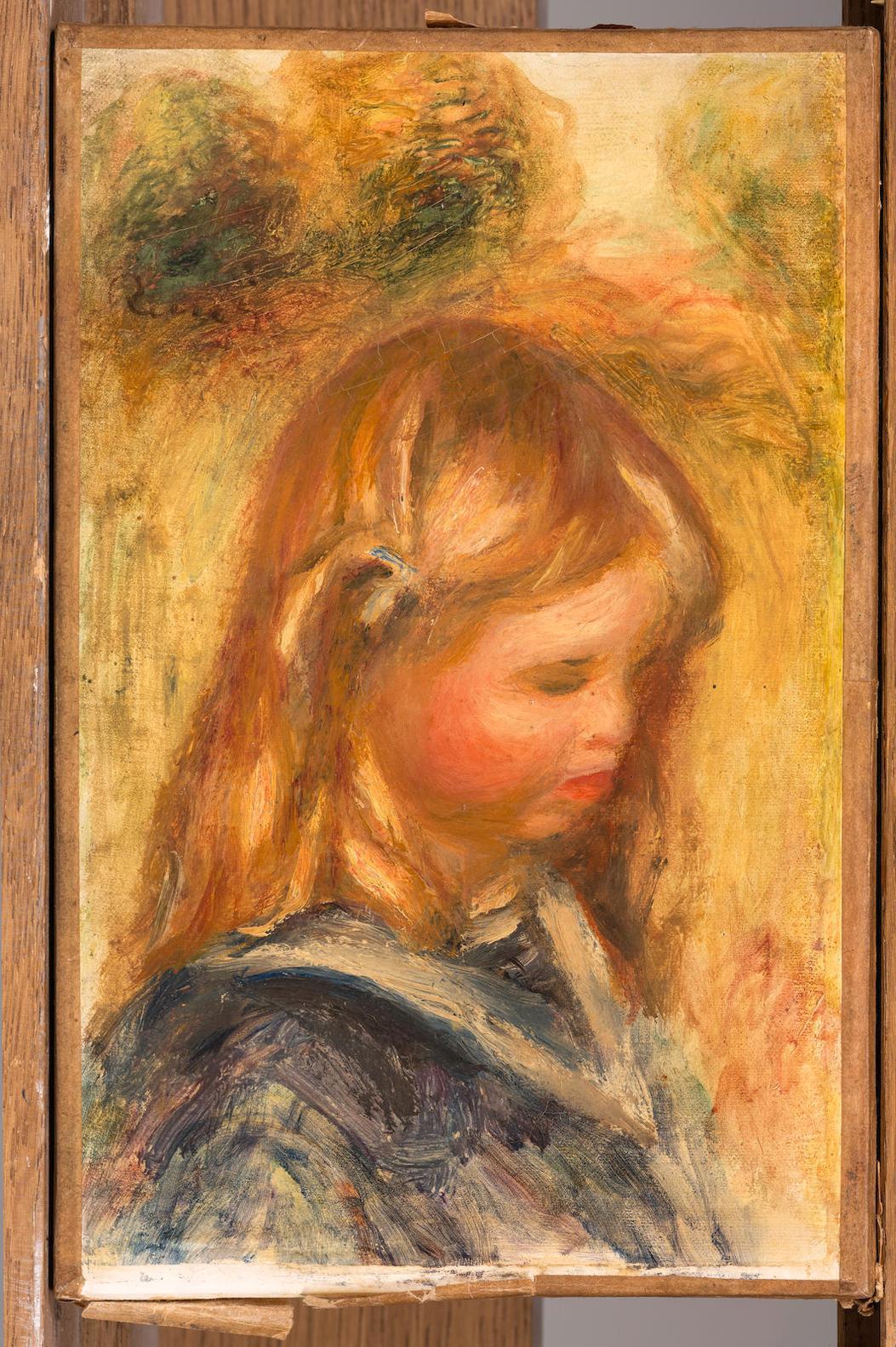 Pierre-Auguste Renoir-Tete Denfant Ou Enfant A La Mariniere-1905