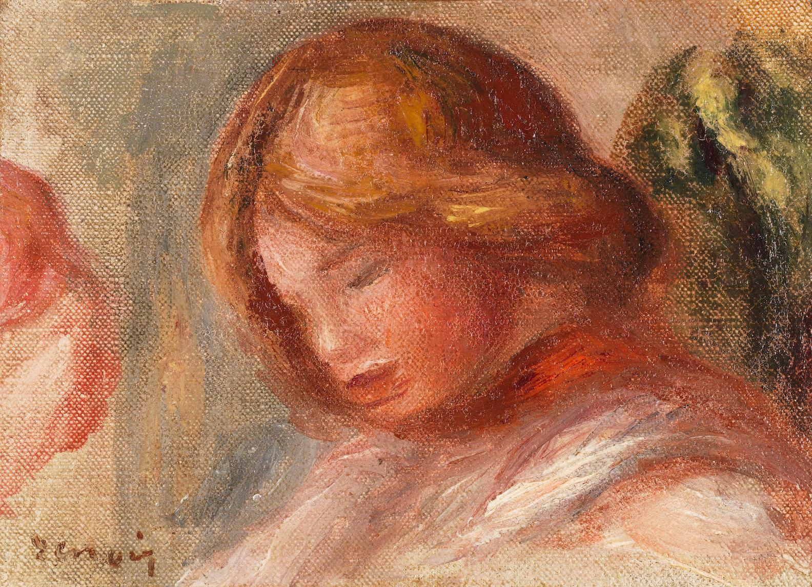 Pierre-Auguste Renoir-Tete De Femme De Profile-1900