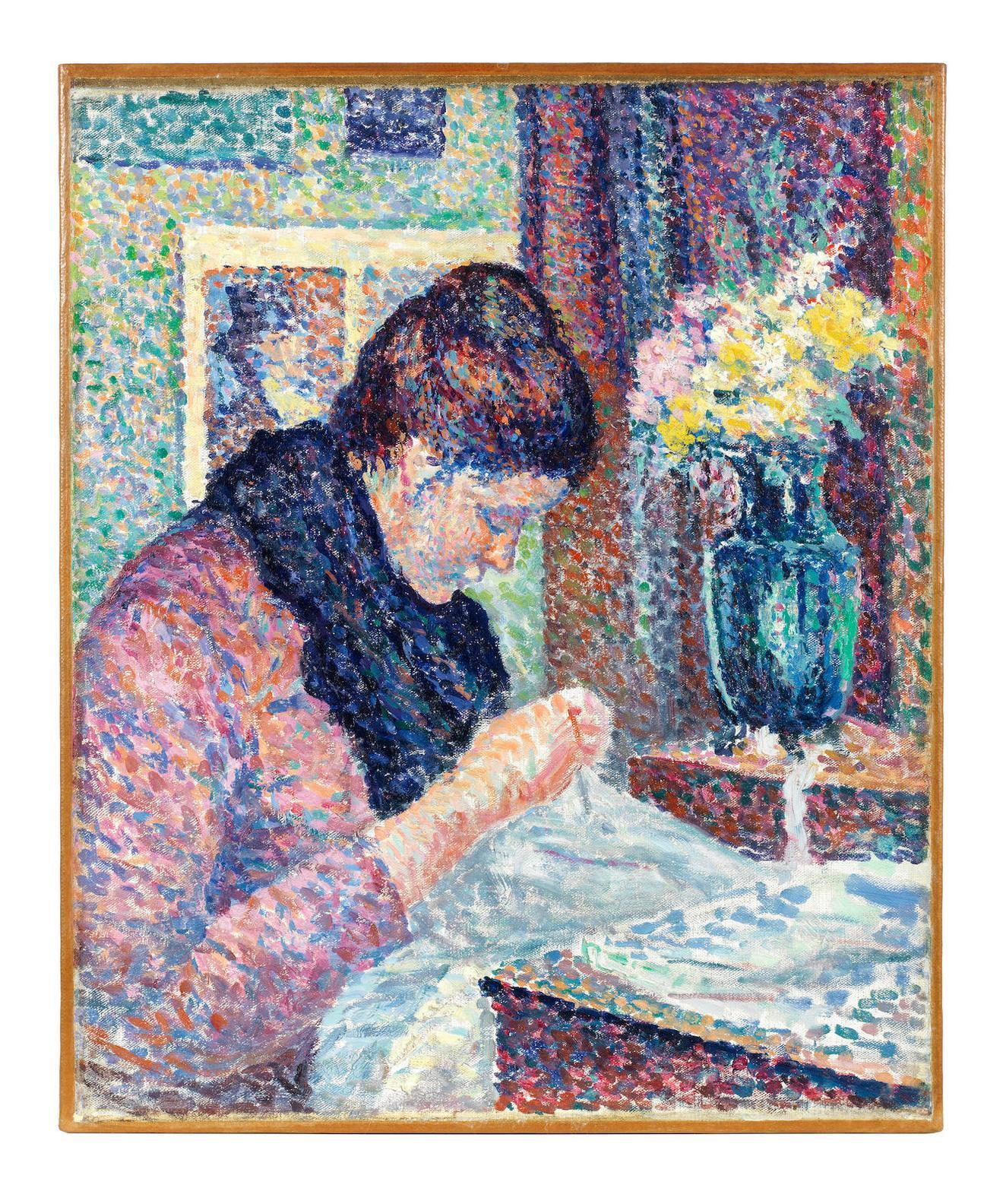 Maximilien Luce-Femme Cousant-1893