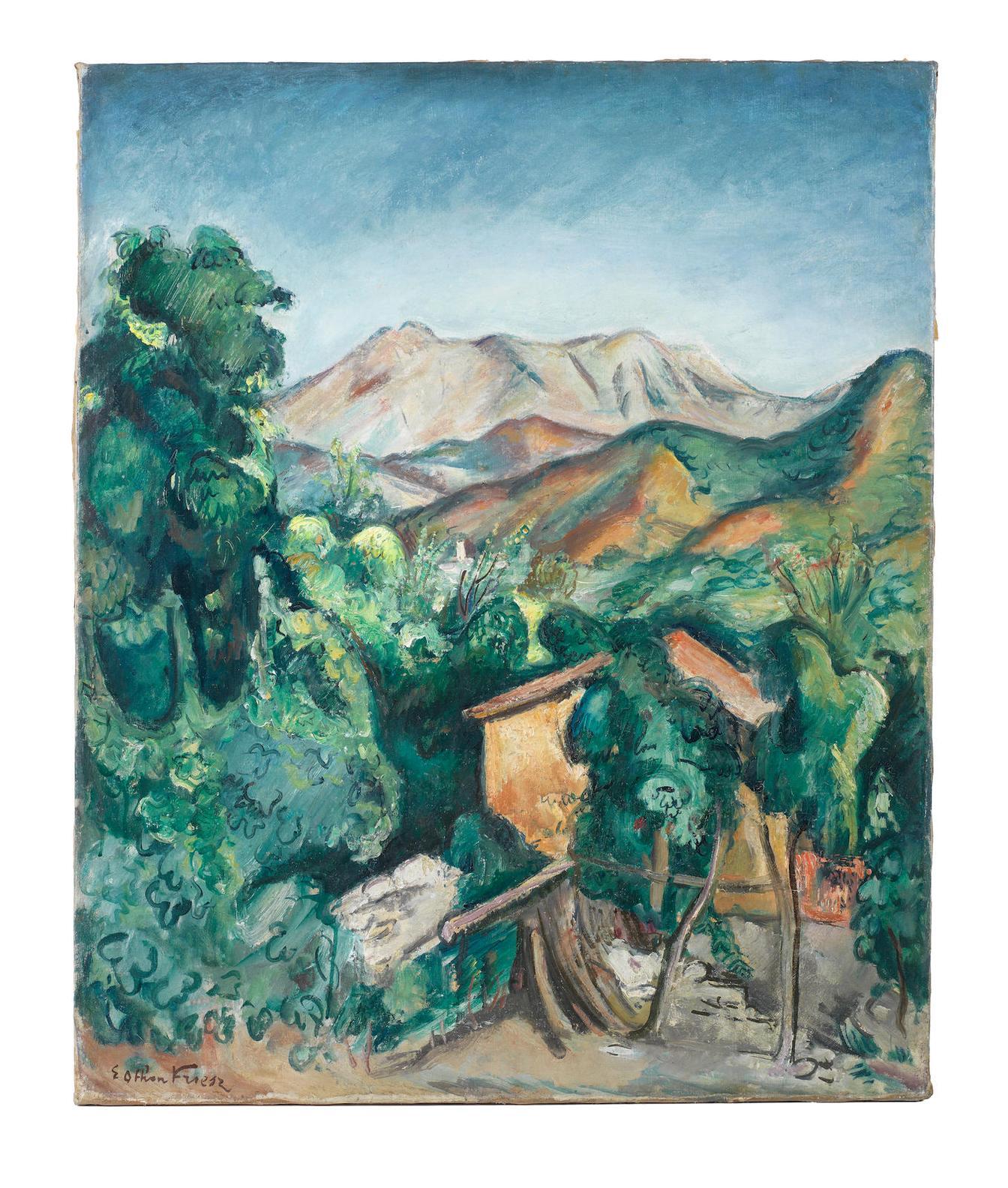 Achille Emile Othon Friesz - Paysage Les Jars-1920