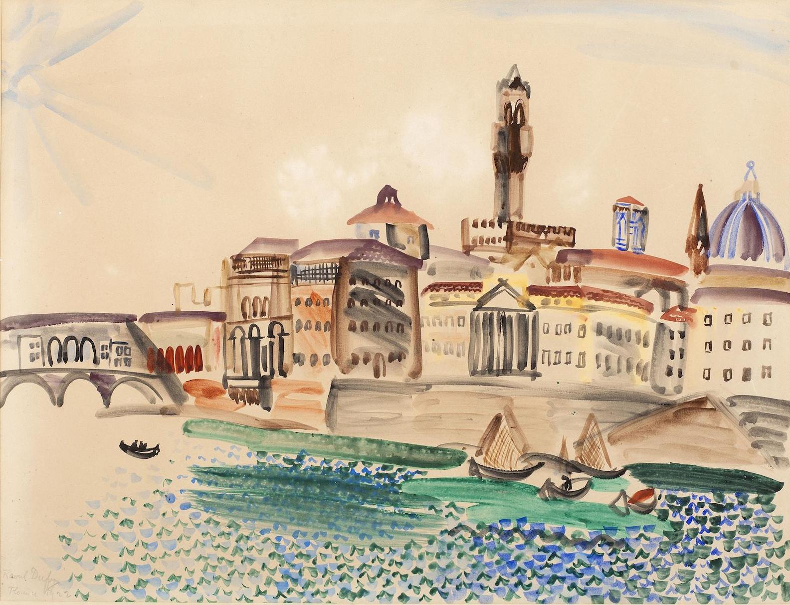 Raoul Dufy-Pont De Larno-1922