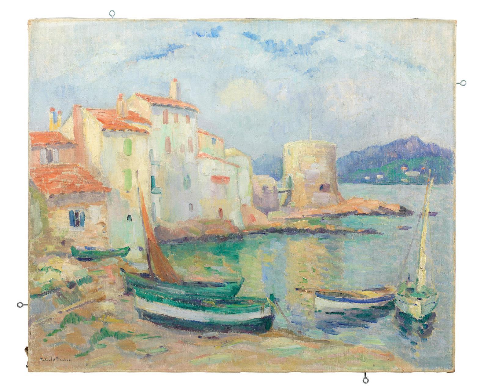 Robert Antoine Pinchon-Vieux Port De Saint-Tropez-1932