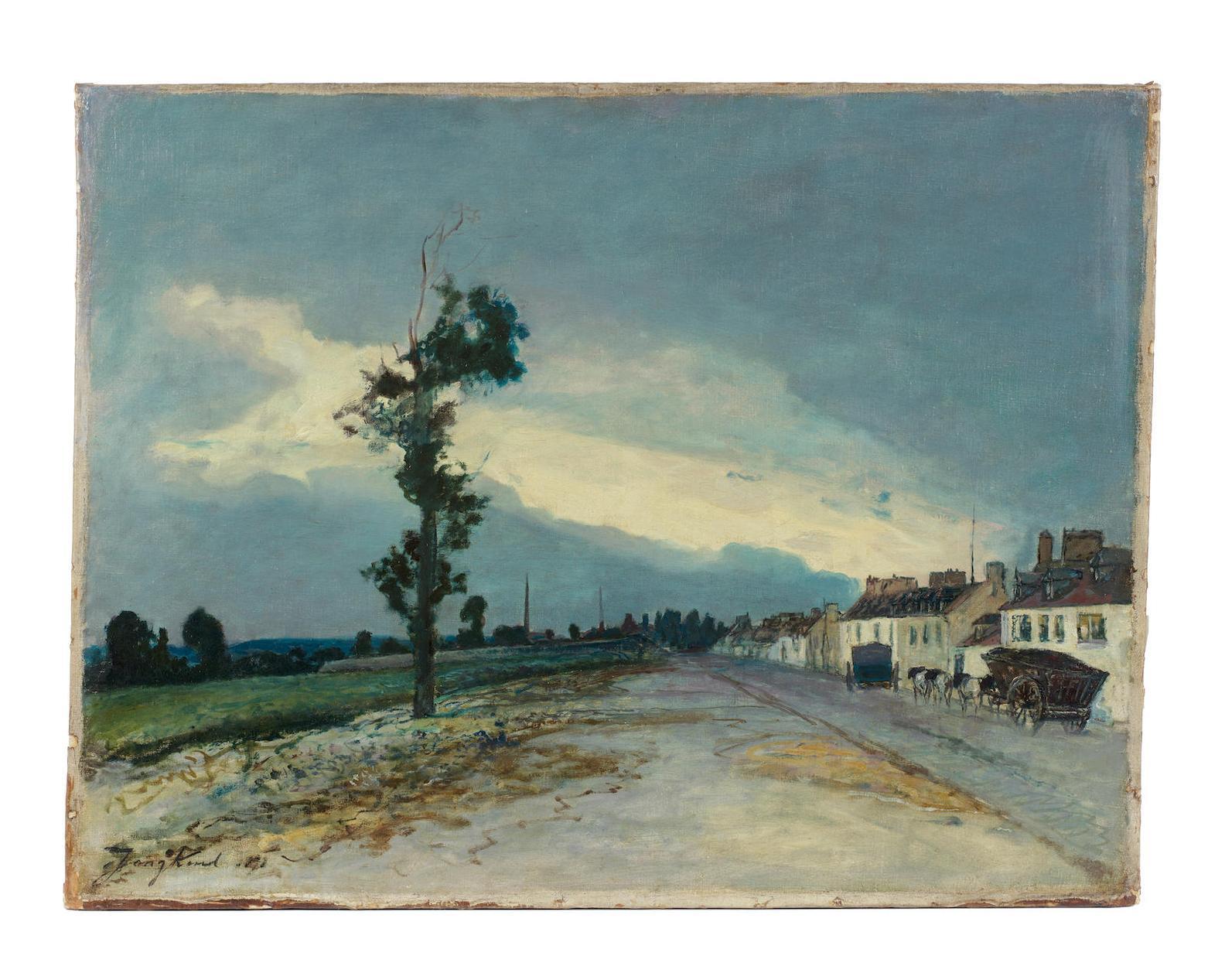 Johan Barthold Jongkind-La Cote-Saint-Andre Par Temps Couvert-1878