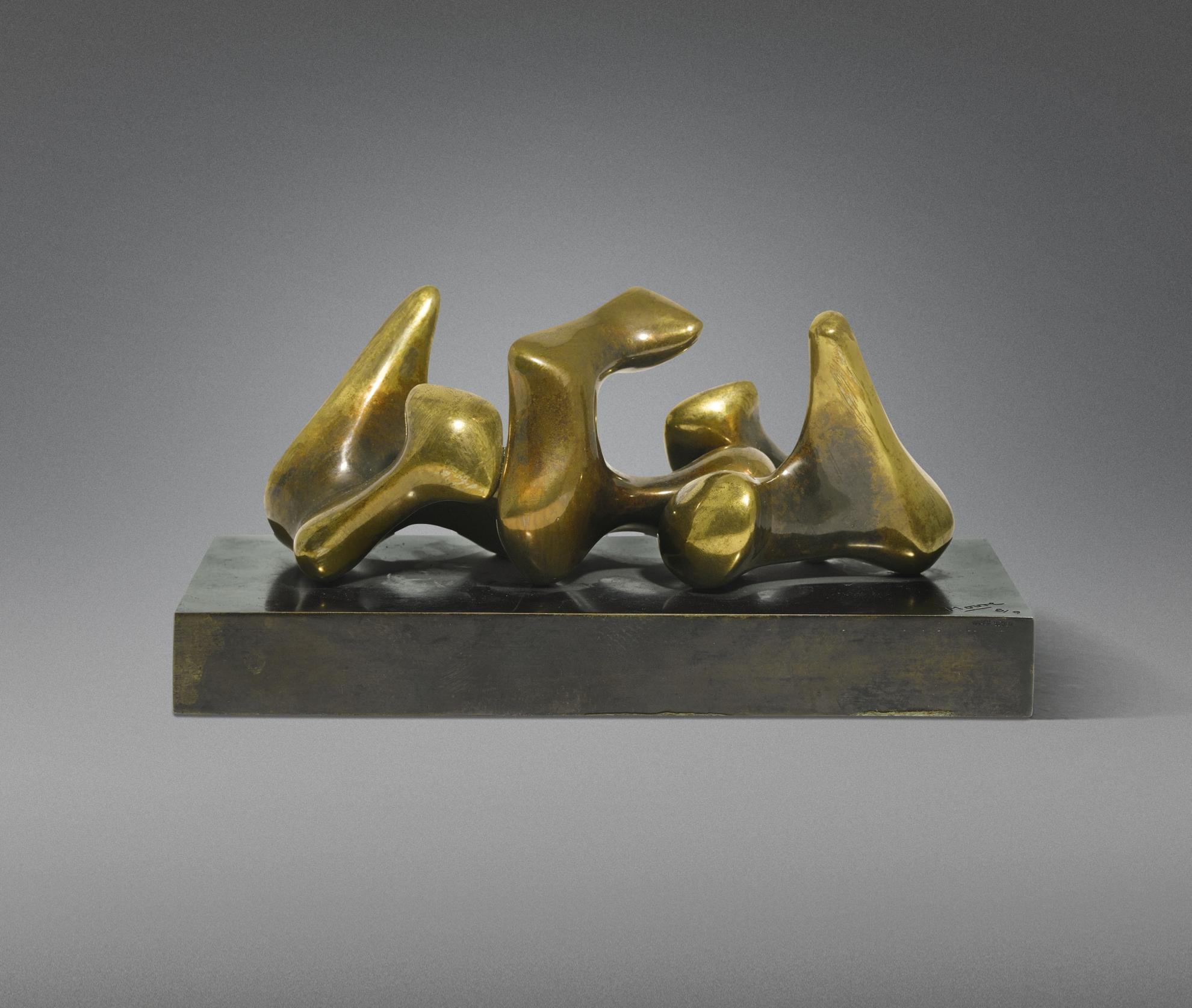 Henry Moore-Maquette For Three Piece No. 3: Vertebrae-1968