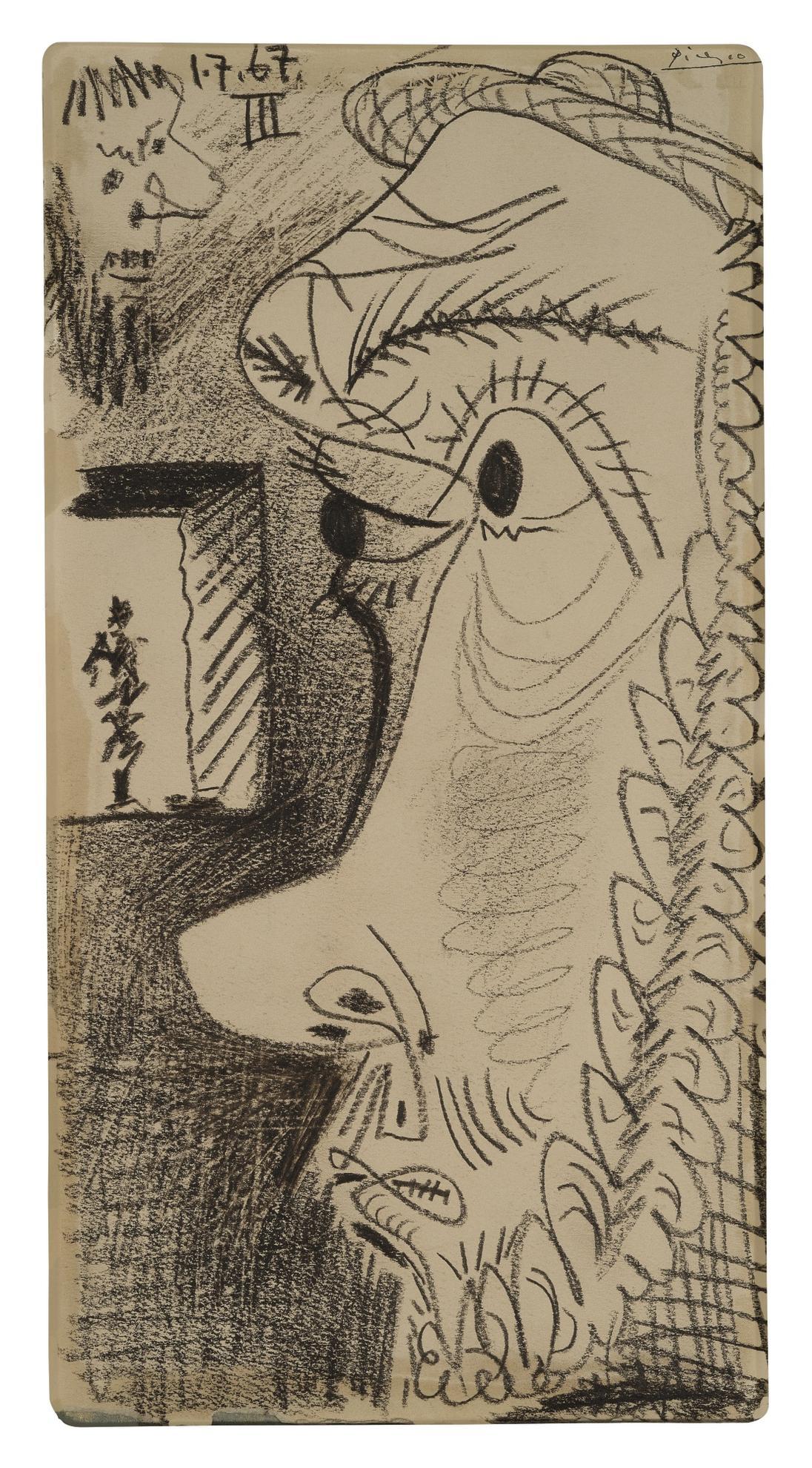 Pablo Picasso-Tetes De Profil-1967