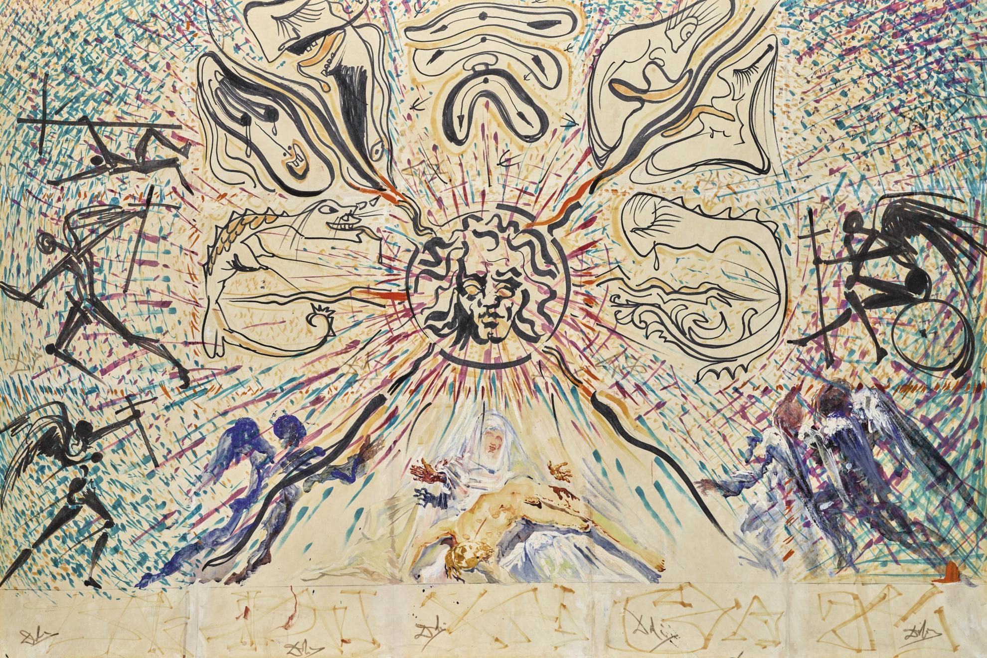Salvador Dali-La Pieta-1973
