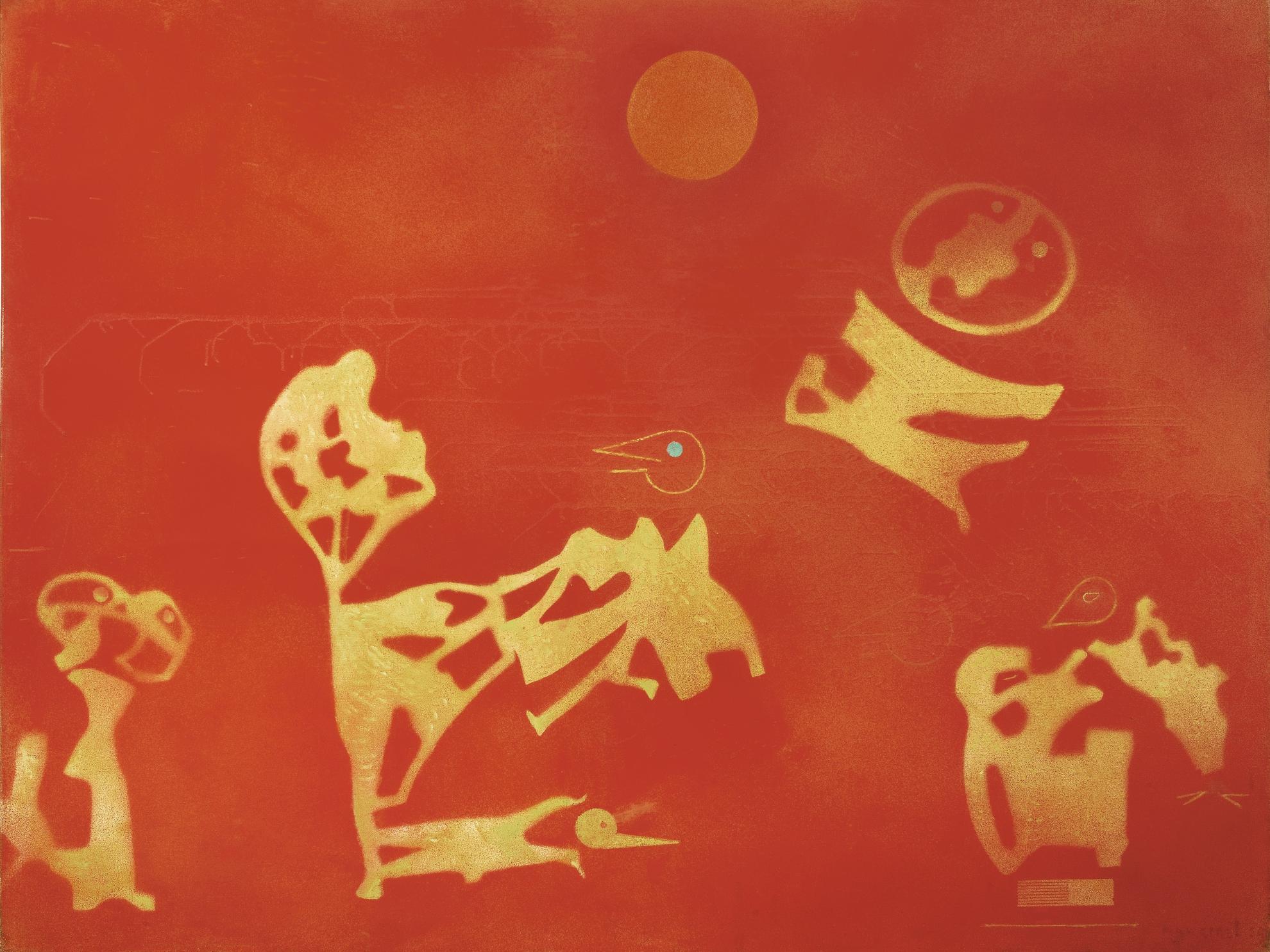 Max Ernst-Enfants Jouant A Lastronaute-1969