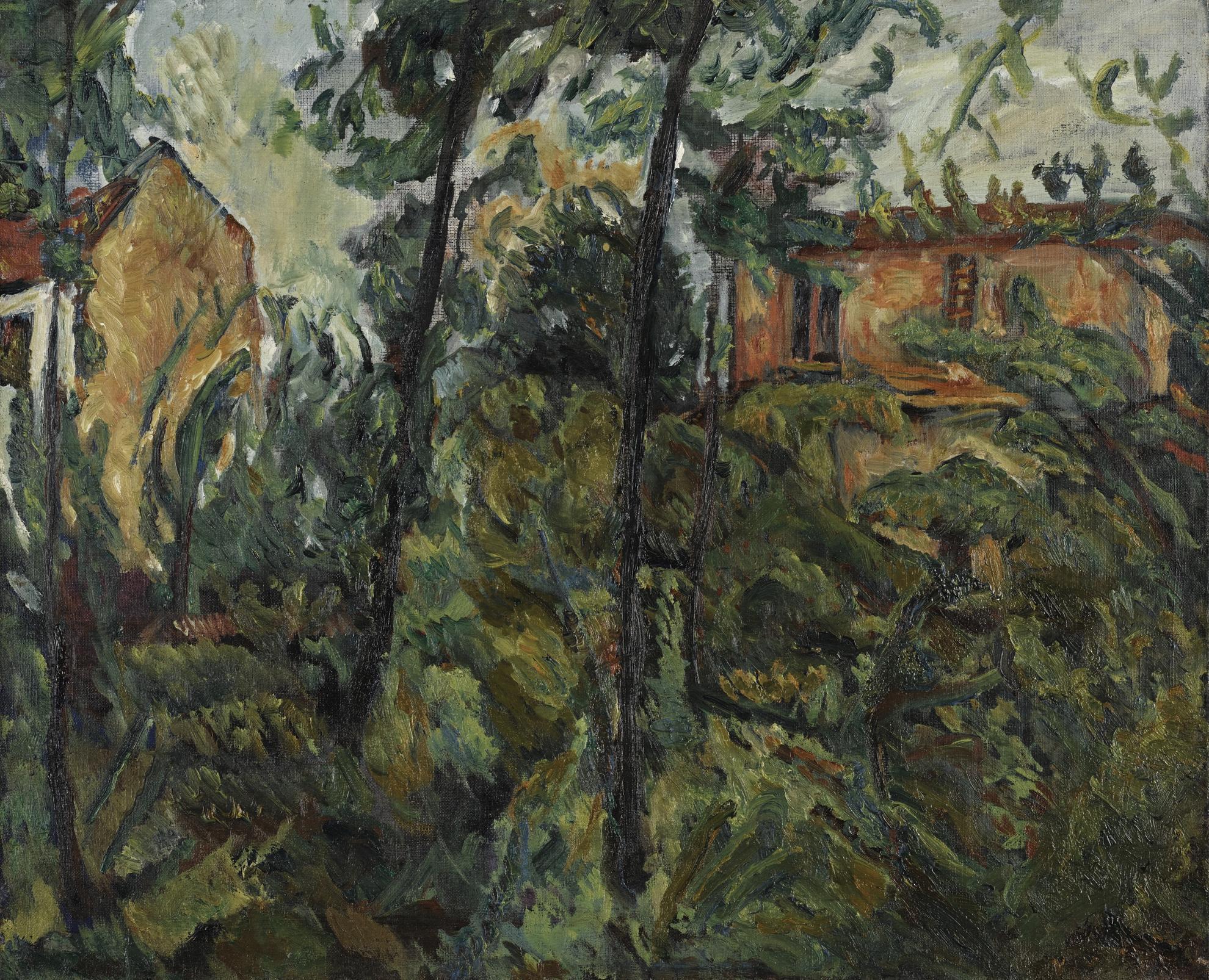 Chaim Soutine-Paysage Avec Maisons-1918