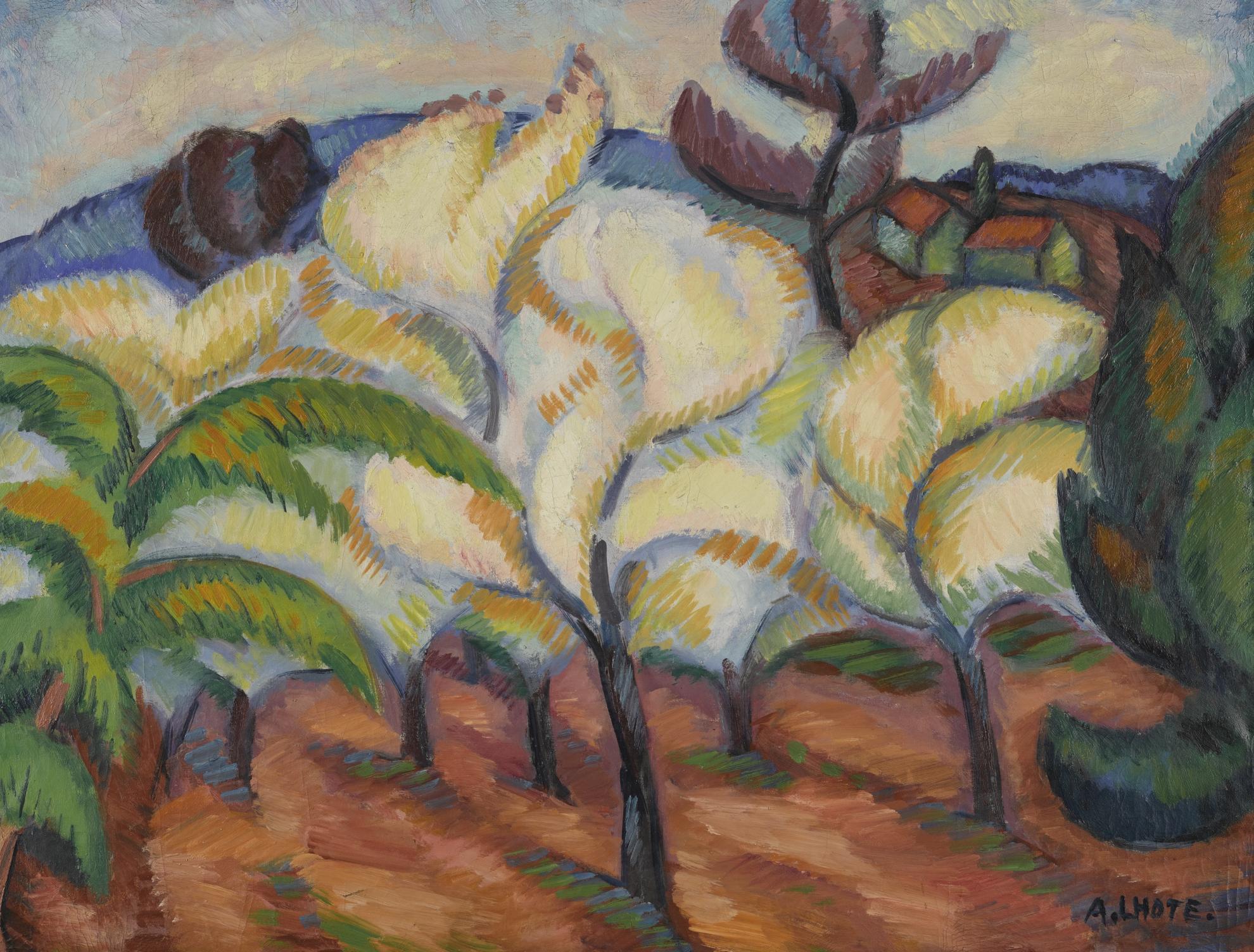 Andre Lhote-Paysage Aux Arbres En Fleurs-1909