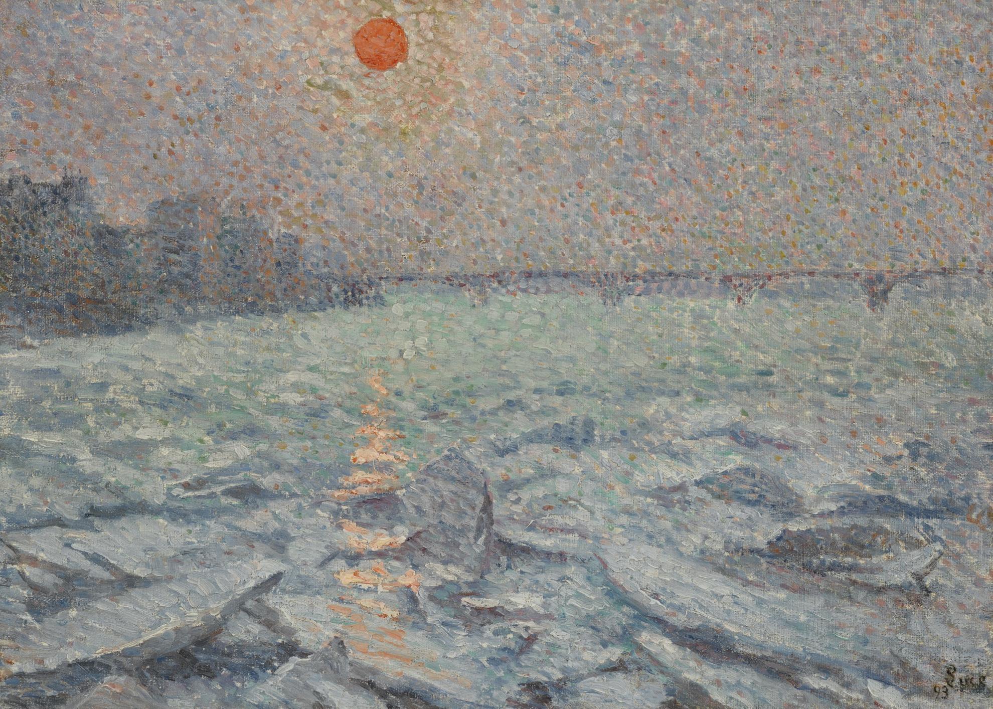 Maximilien Luce-Soleil Sur La Tamise, Effet De Givre-1893