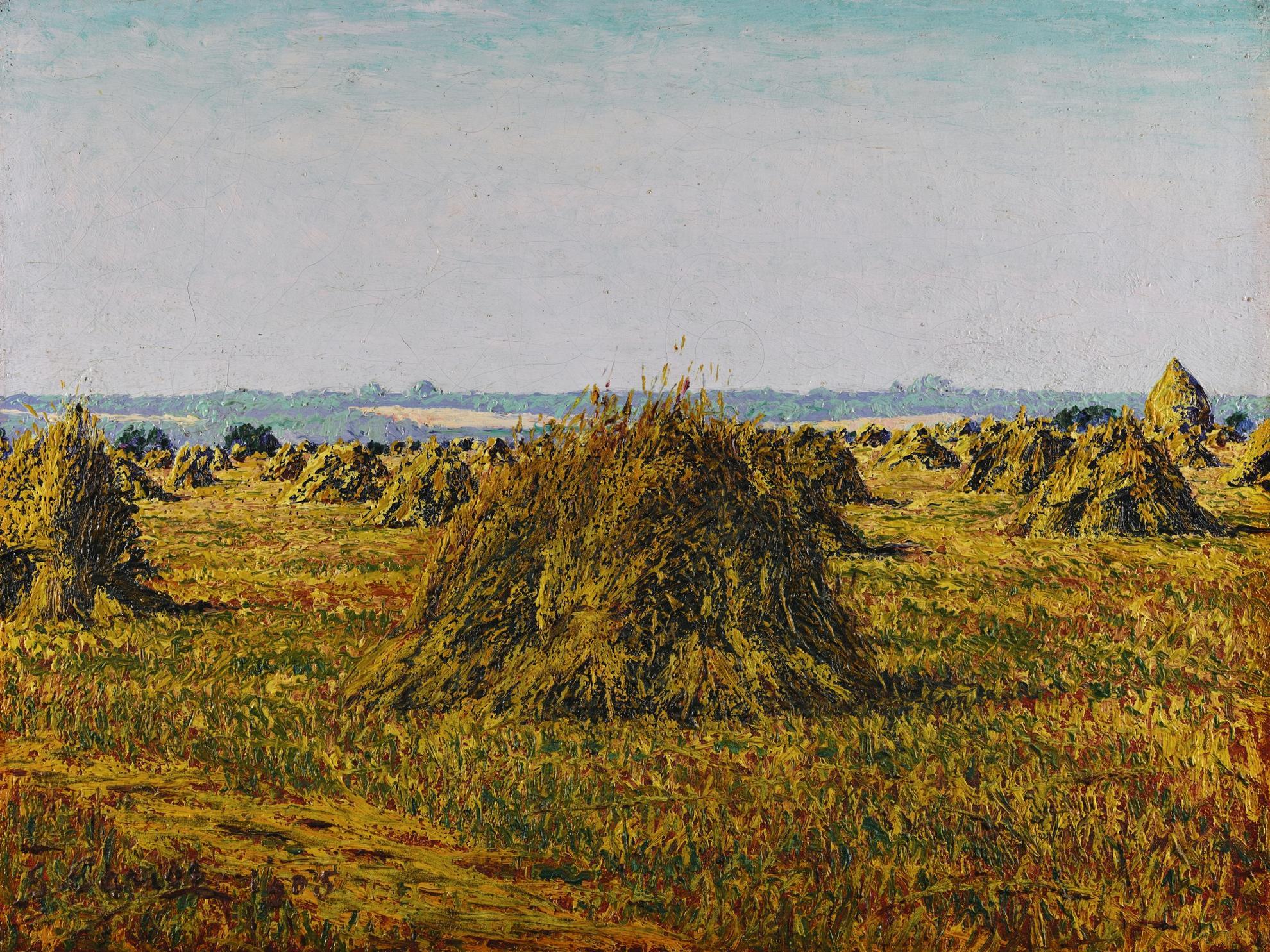 Gustave Cariot-Gerbes De Ble A Perigny-1905