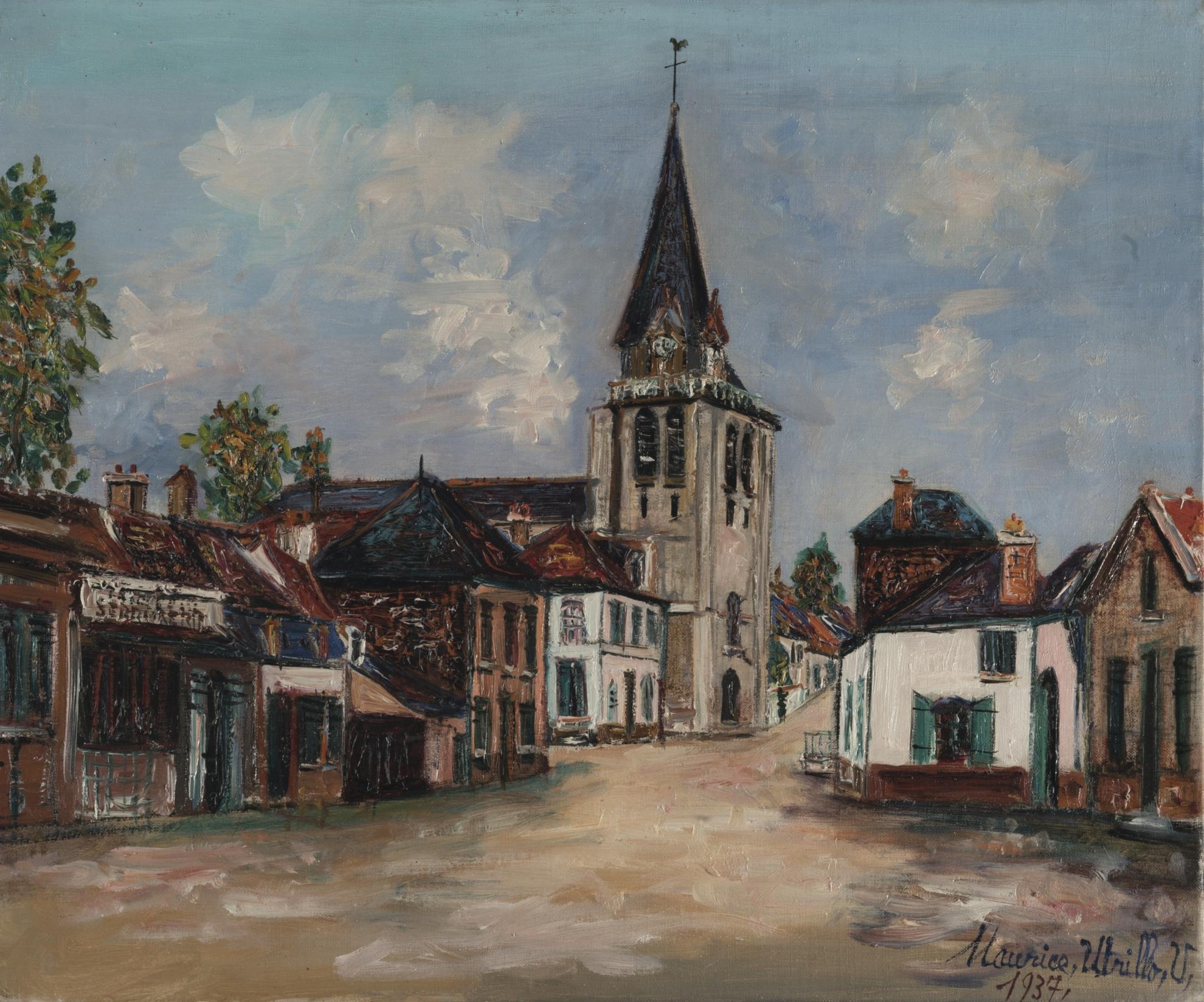 Maurice Utrillo-Rue De Leglise, Bucquoy (Pas-De-Calais)-1937