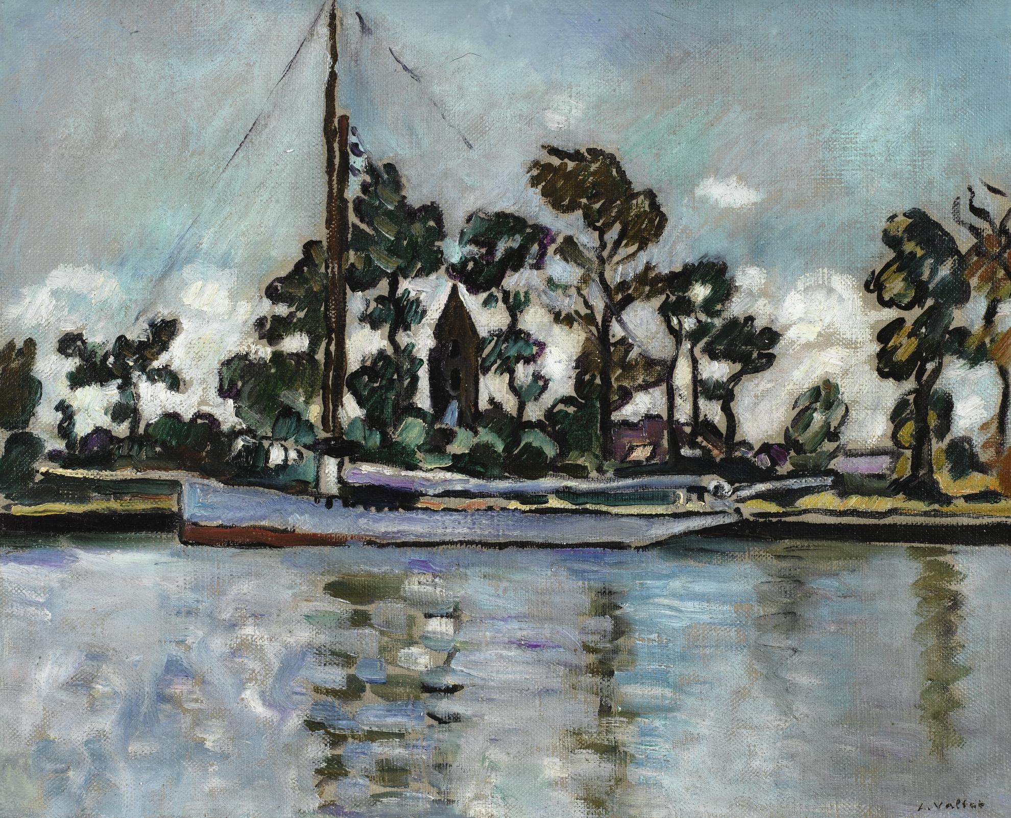 Louis Valtat-Bateau Sur Le Canal, Ouistreham-1930