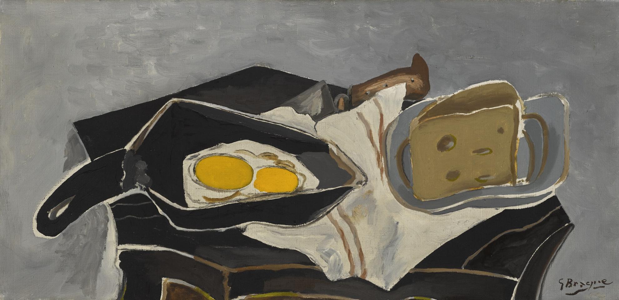 Georges Braque-Les Œufs Dans La Poele-1941