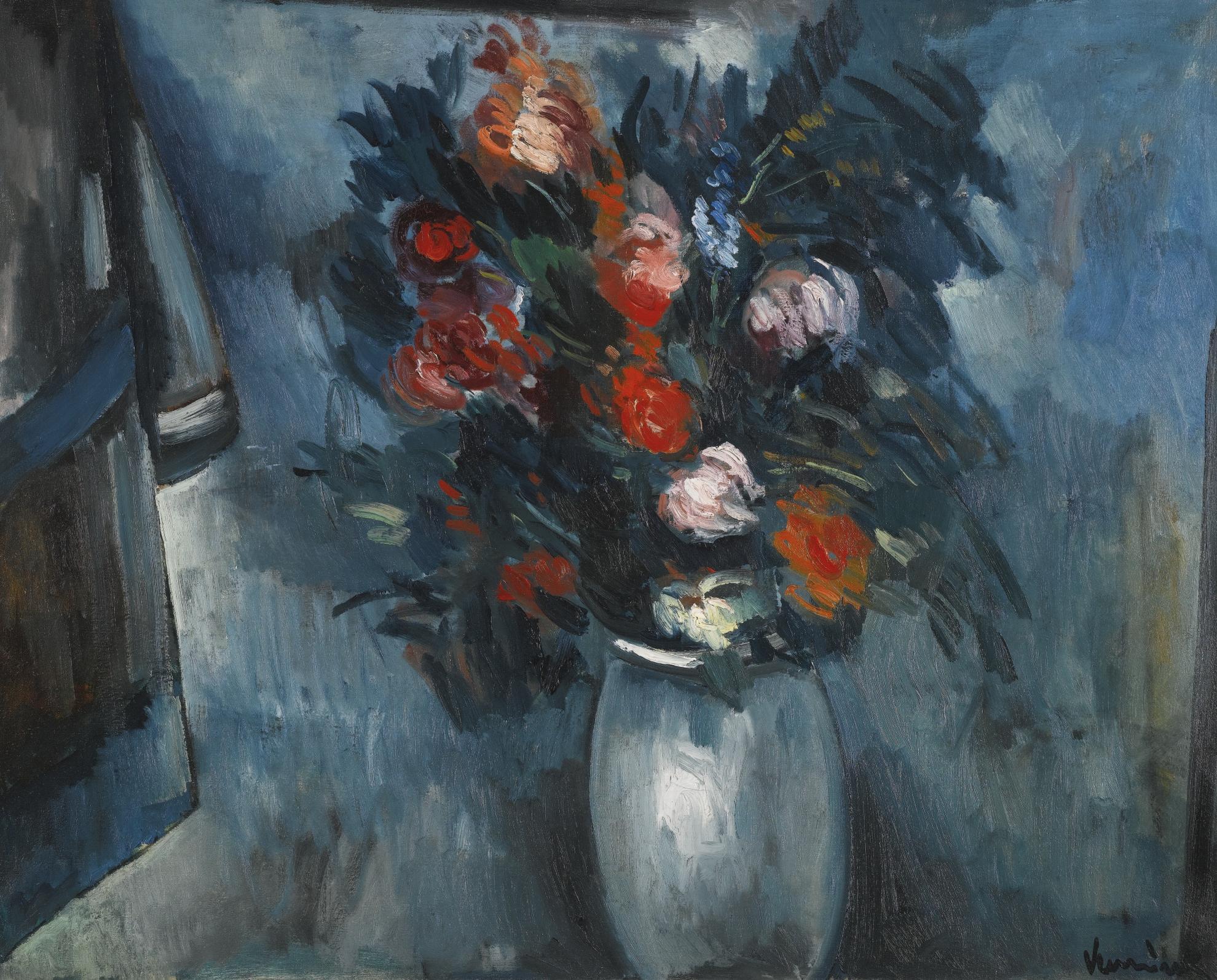Maurice de Vlaminck-Fleurs Dans Un Vase Bleu-1912