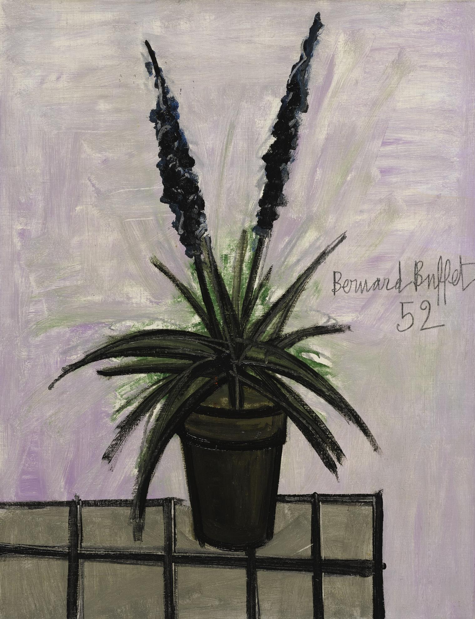 Bernard Buffet-Pot De Jacinthes-1952