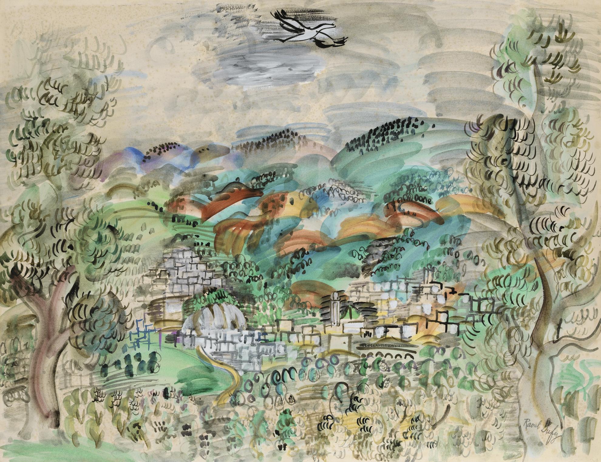 Raoul Dufy-Moulay Idriss-1926