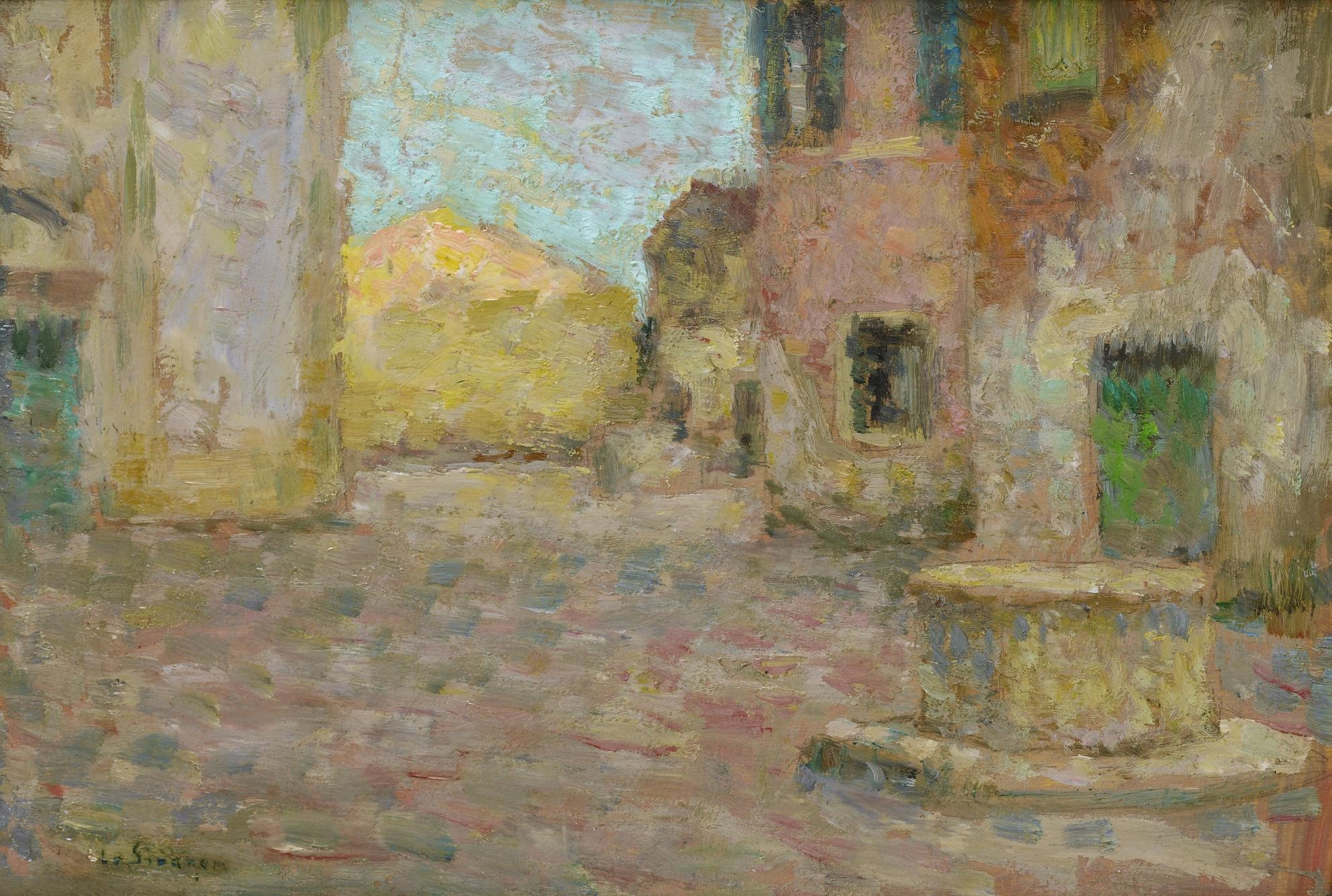 Henri Eugene Le Sidaner-Petite Place, Venise-1905