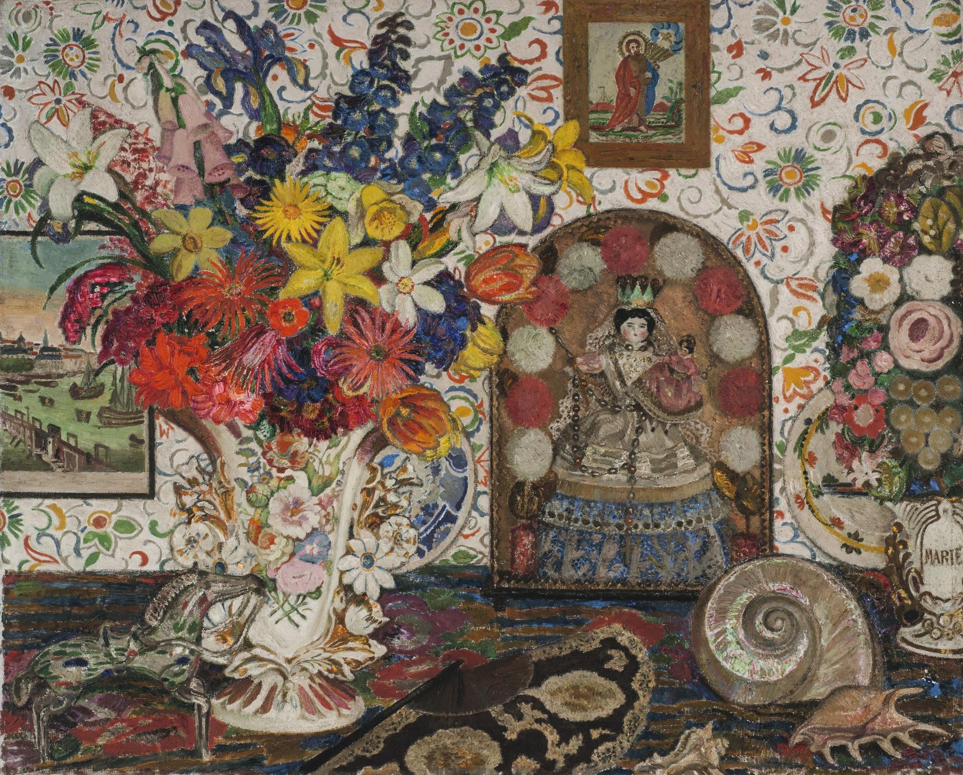Leon De Smet-Still Life With Flowers And Shells-1930
