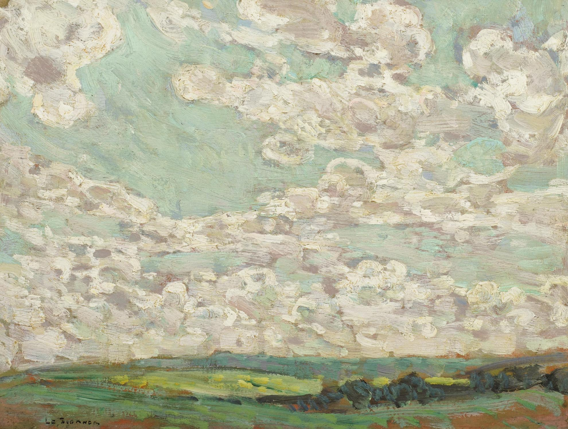 Henri Eugene Le Sidaner-Ciel De Printemps, Gerberoy-1913