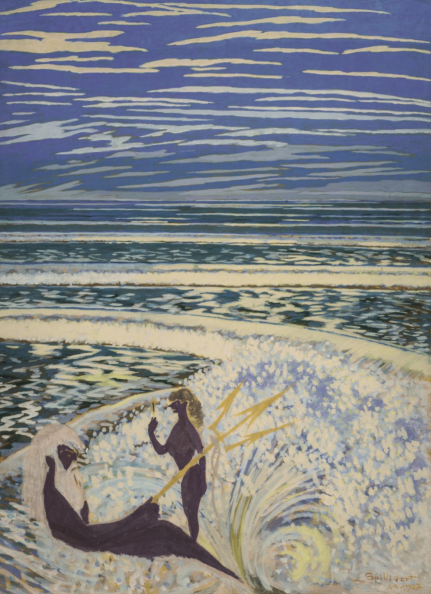 Leon Spilliaert-Neptune Et Galathee-1922
