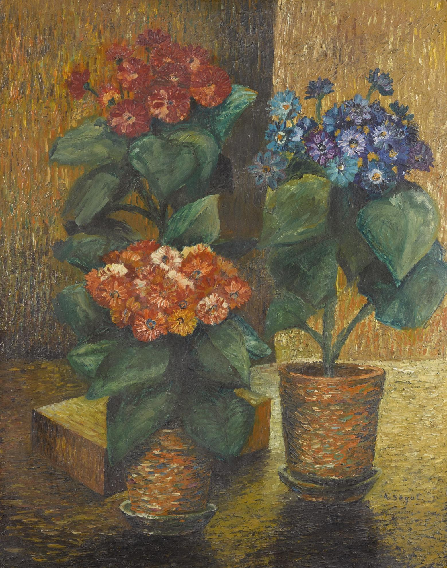 Arthur Segal - Stillleben. Blumen In Topfen (Still Life. Flowers In A Pot)-1911
