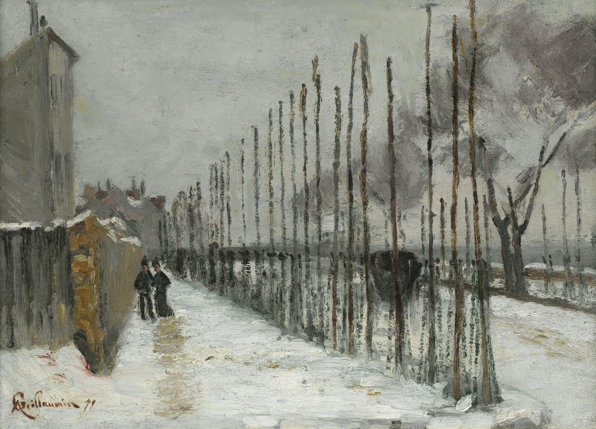 Jean-Baptiste Armand Guillaumin-Route Enneigee Aux Environs De Paris-1879