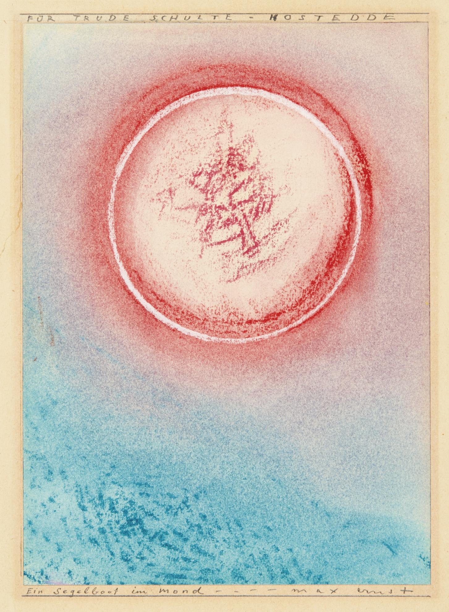Max Ernst-Ein Segelboot Im Mond (A Sailing Boat In The Moon)-1965