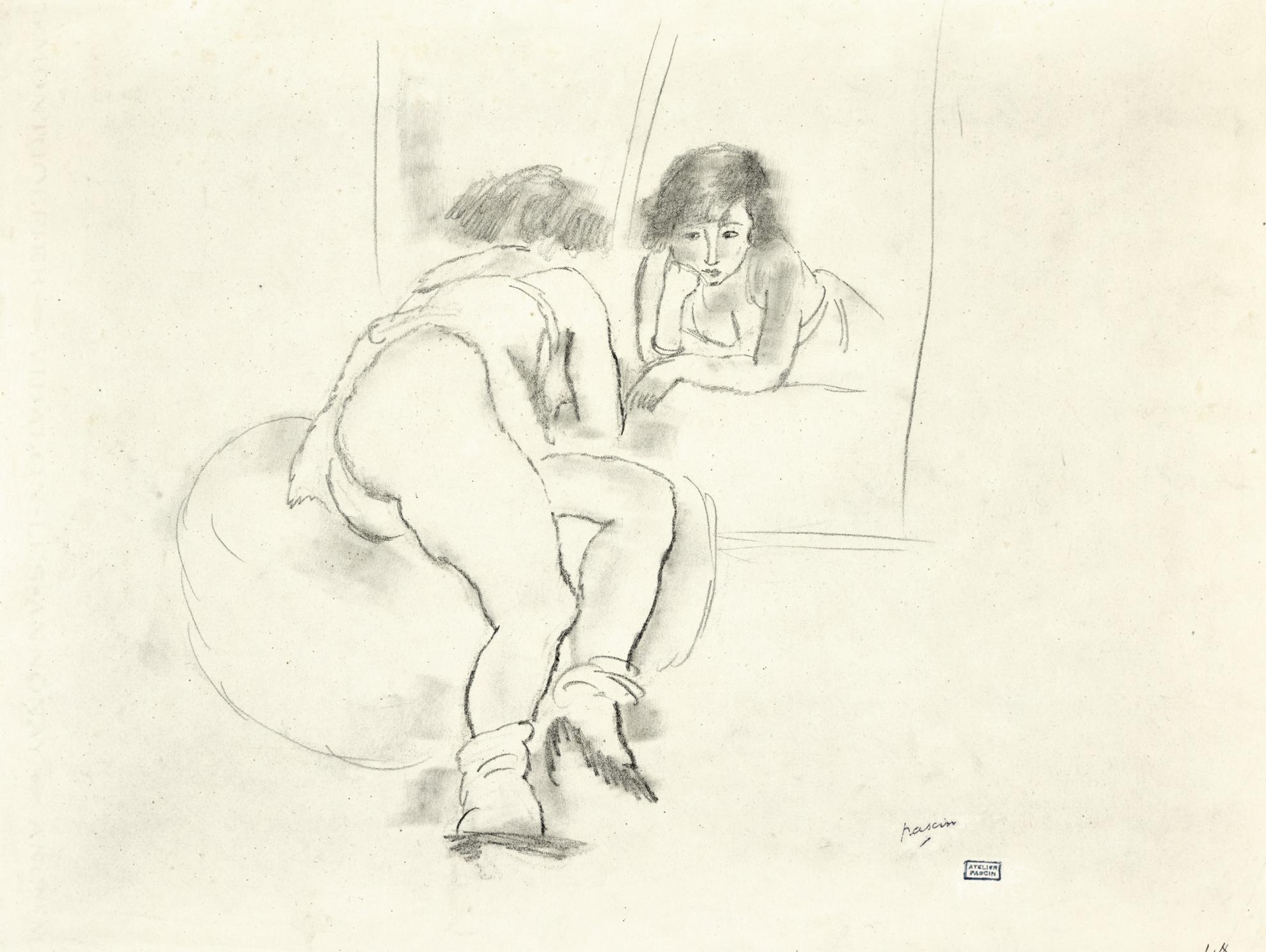 Jules Pascin-Femme-1925