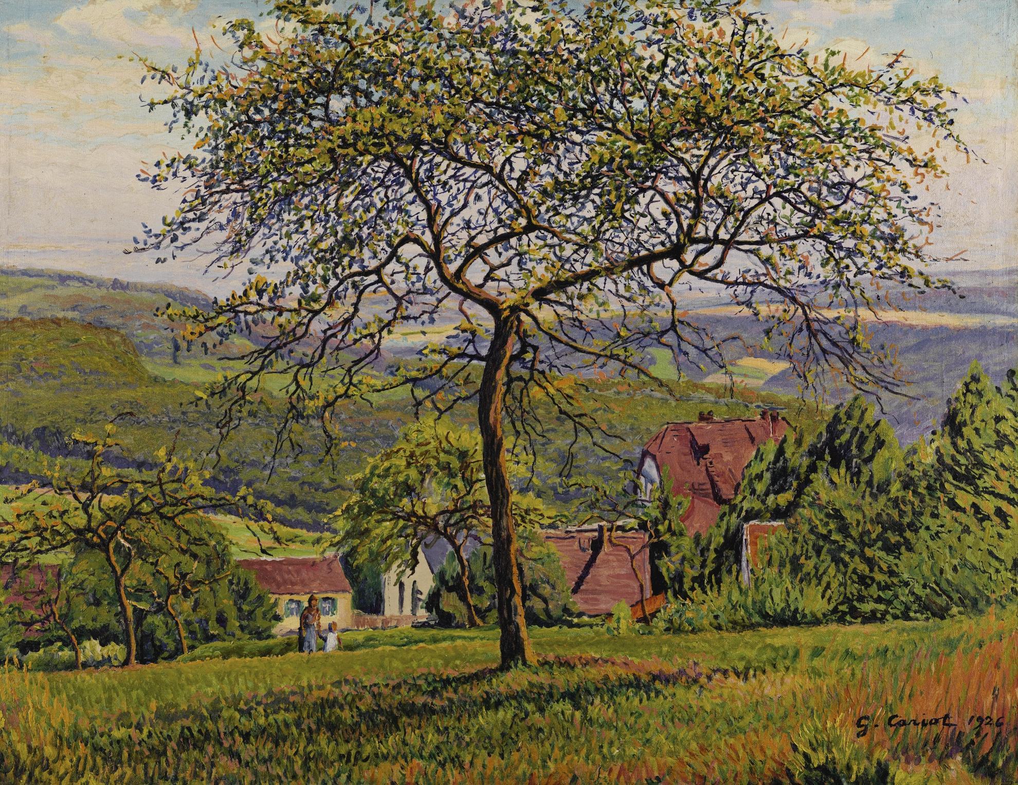 Gustave Cariot-Balade Dans Le Verger-1926