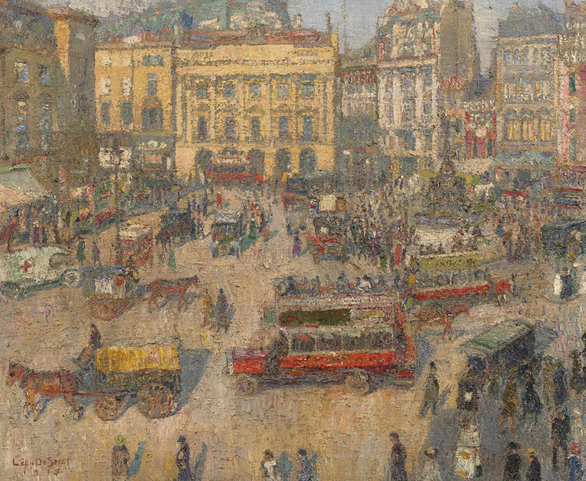 Leon De Smet-Piccadilly Circus, London-1917