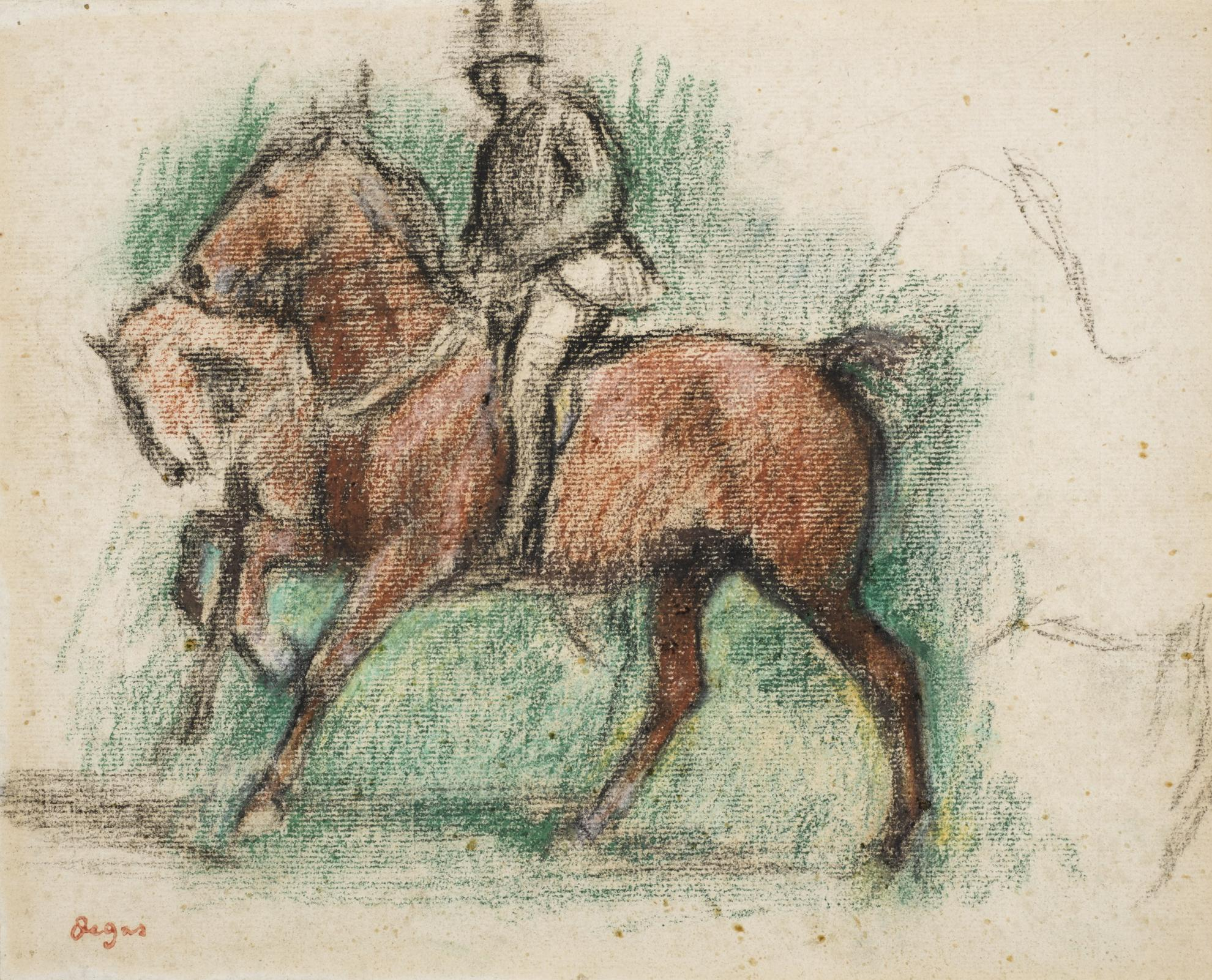 Edgar Degas-La Promenade Des Chevaux-1885