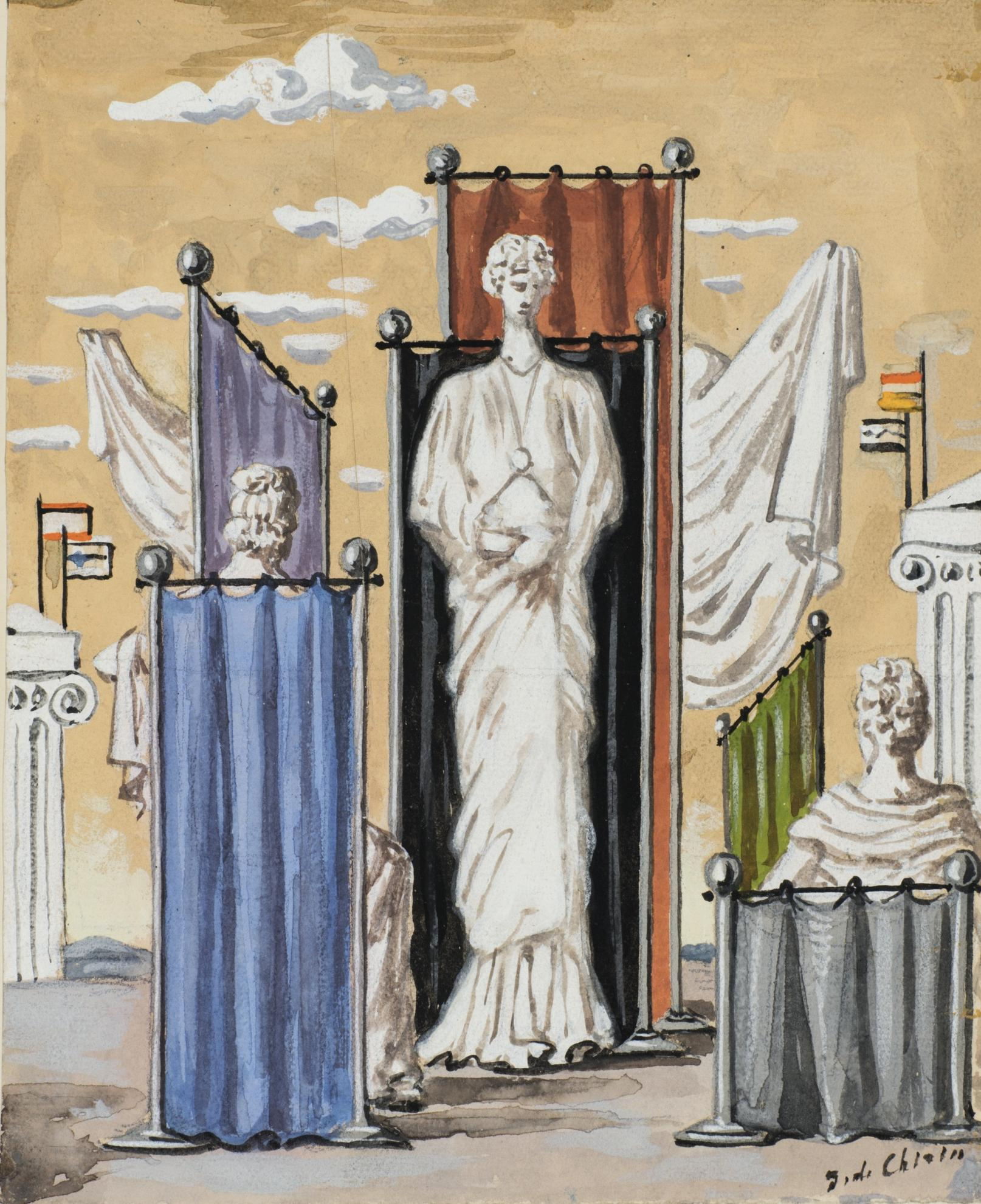 Giorgio de Chirico-La Femme Antique-1937