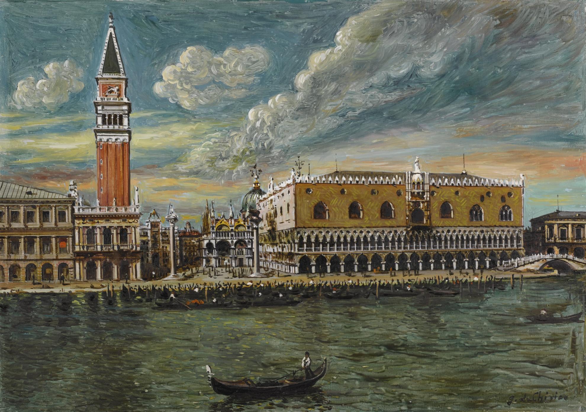 Giorgio de Chirico-Venezia (Palazzo Ducale)-1960