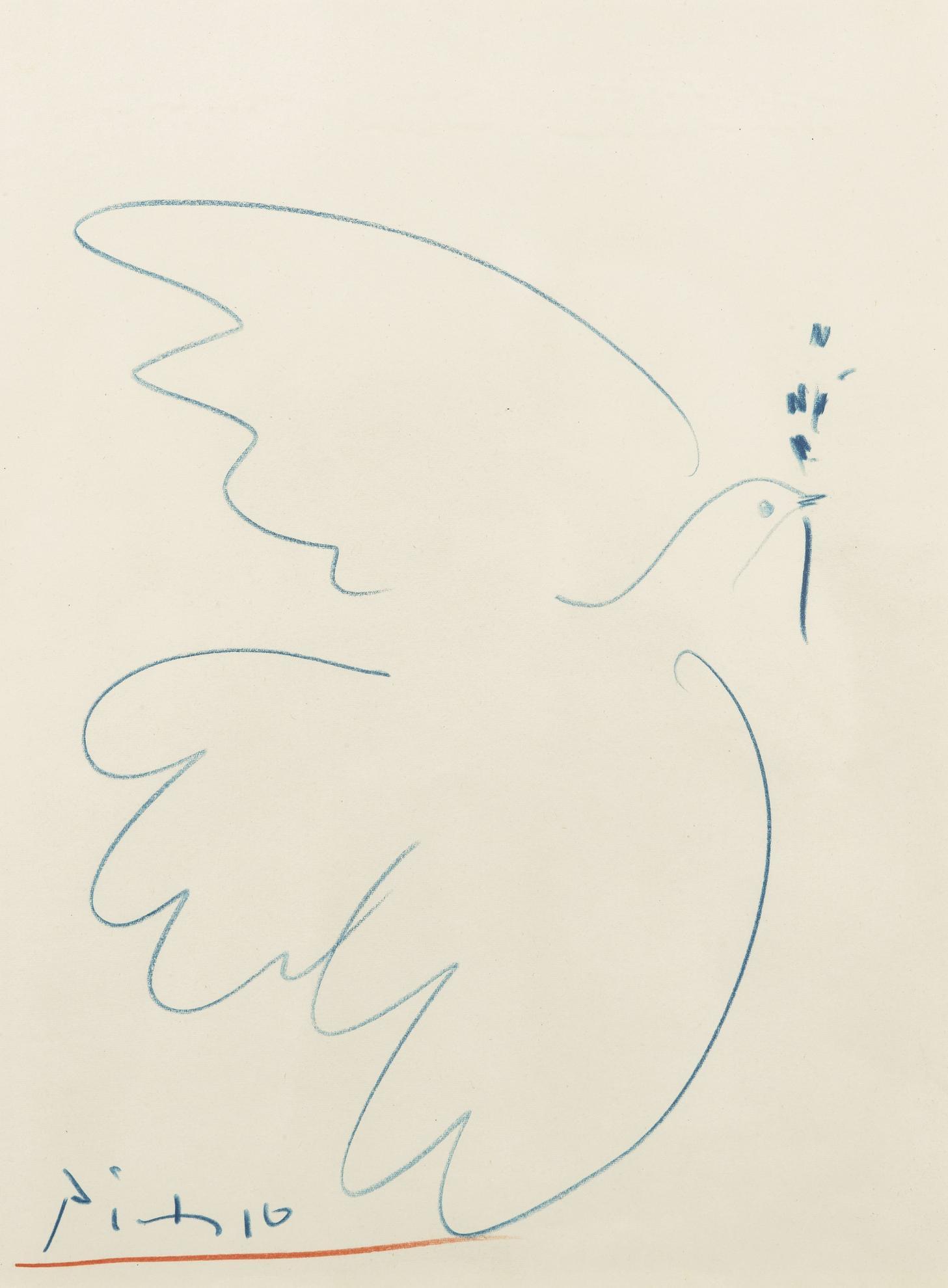 Pablo Picasso-Colombe-1958
