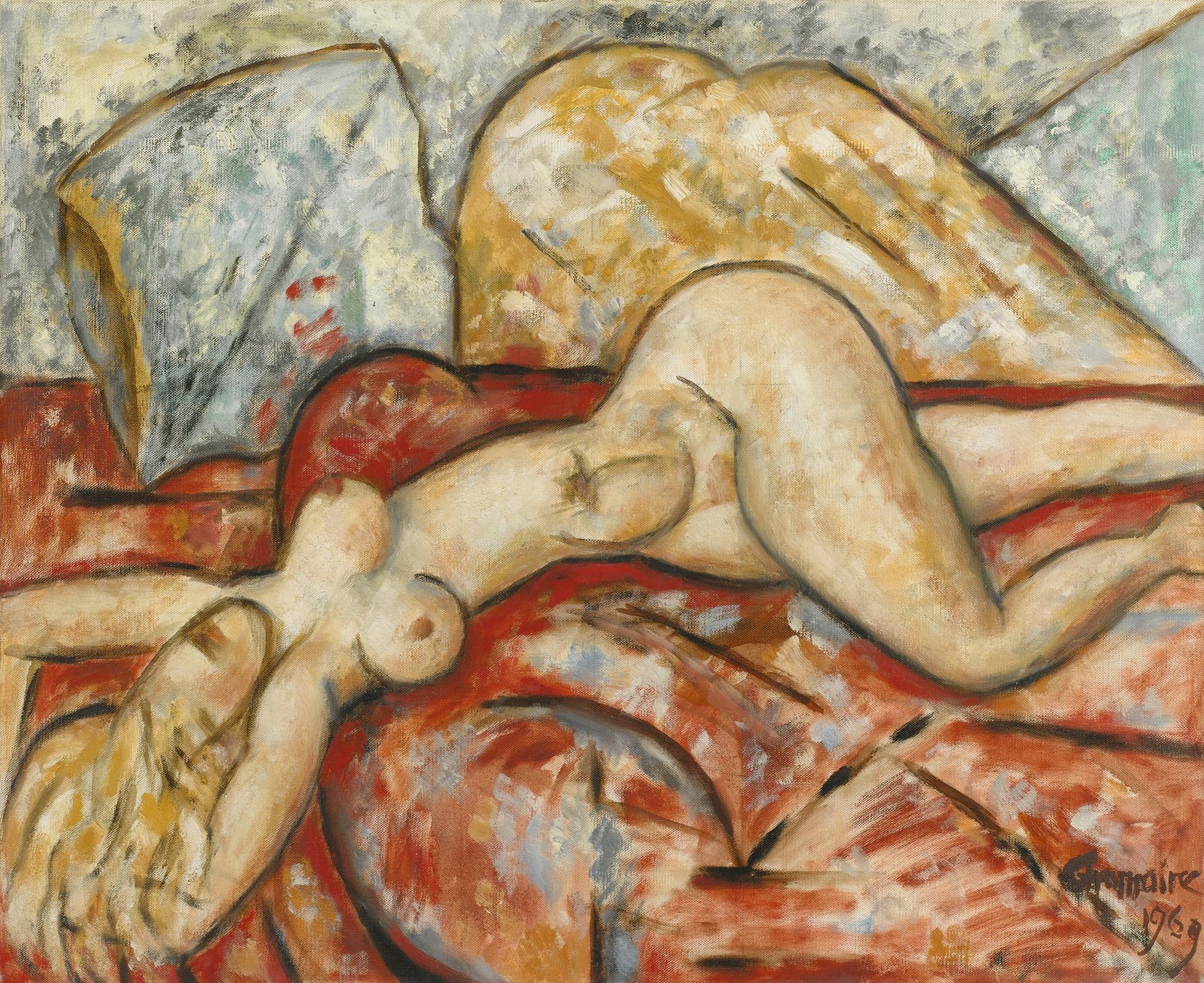Marcel Gromaire-Nu Au Divan-1969