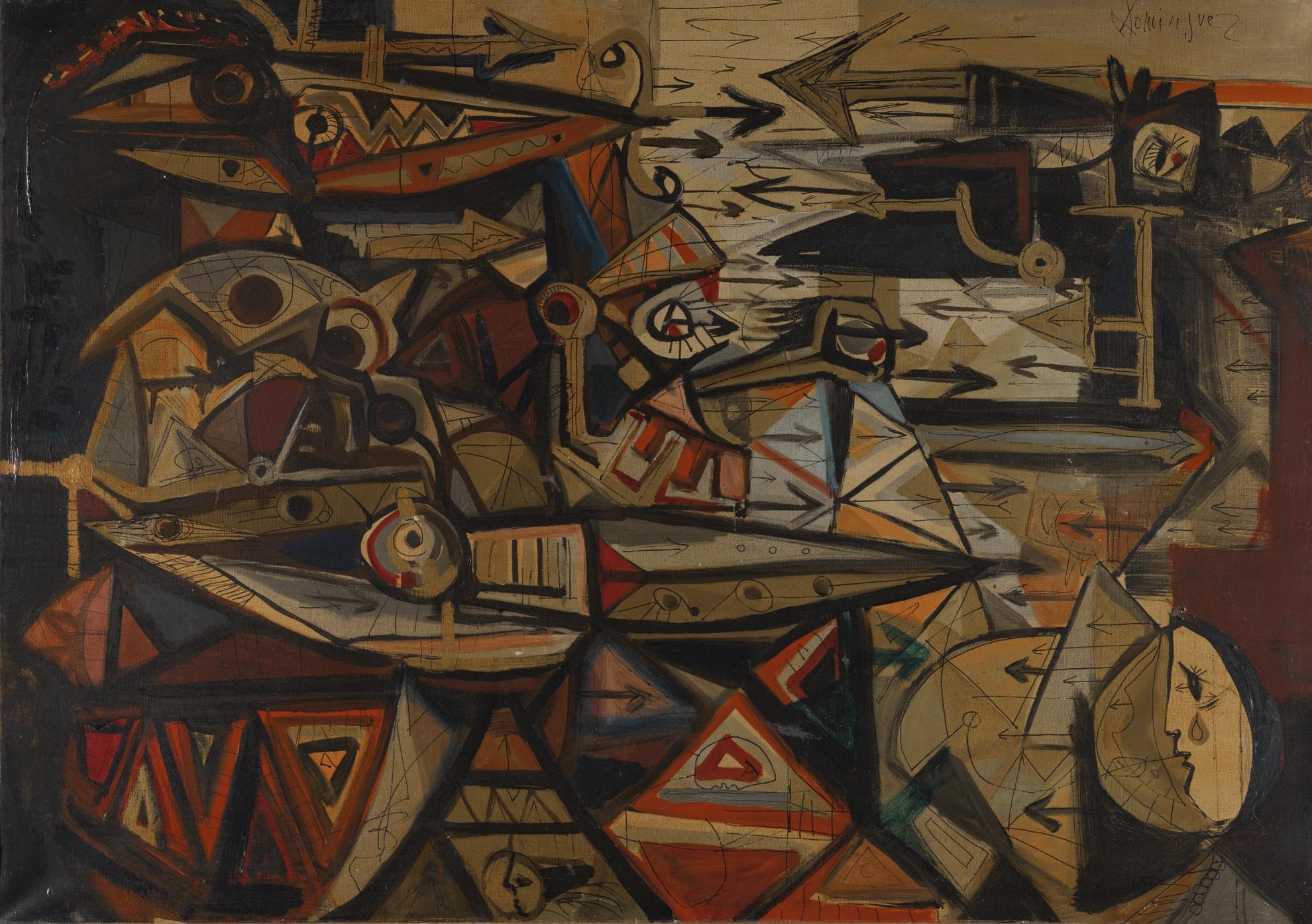 Oscar Dominguez-Batalla Or La Vole Lion (The Battle Or The Fighting Lion)-1940
