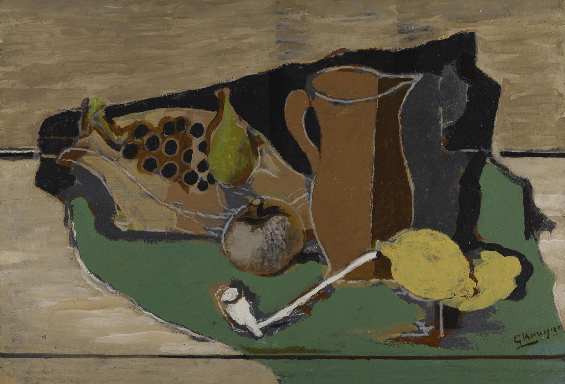 Georges Braque-Fruits, Cruche Et Pipe-1924