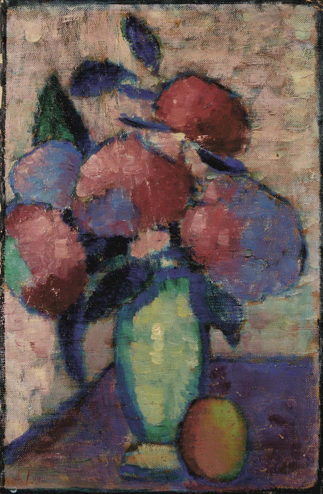 Alexej von Jawlensky-Stillleben: Blumen In Gruner Vase (Still-Life: Flowers In Green Vase)-1930