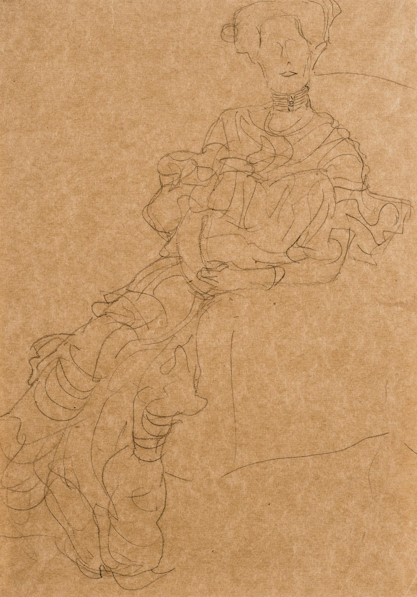 Gustav Klimt-Fritza Riedler Im Ruschenkleid (Fritza Riedler In A Frilled Dress)-1905