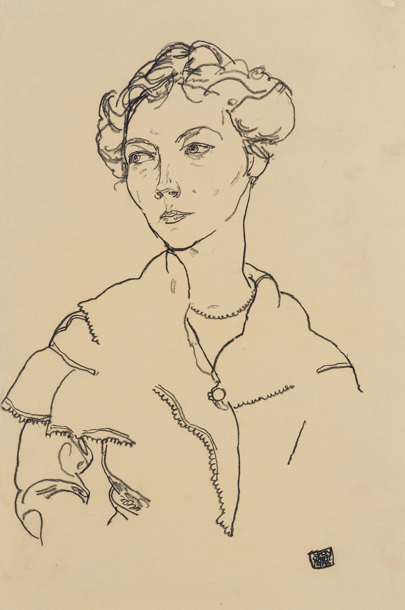 Egon Schiele-Lilly Steiner-1918