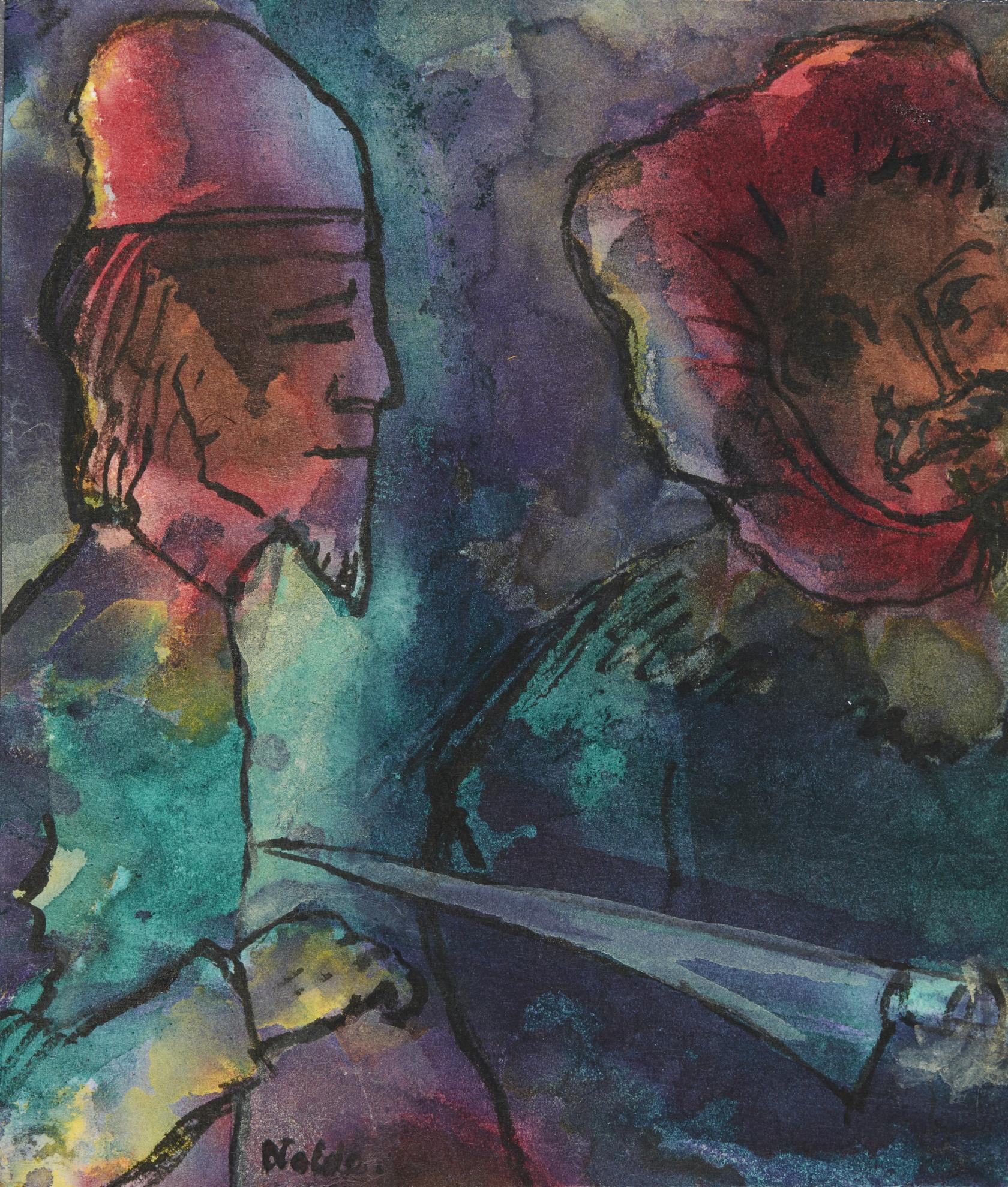 Emil Nolde-Zwei Manner (Two Men)-1945