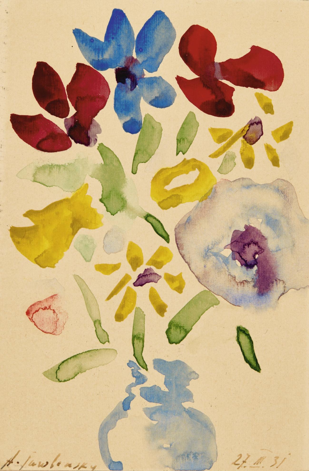 Alexej von Jawlensky-Blumen In Blauer Vase (Flowers In Blue Vase)-1931