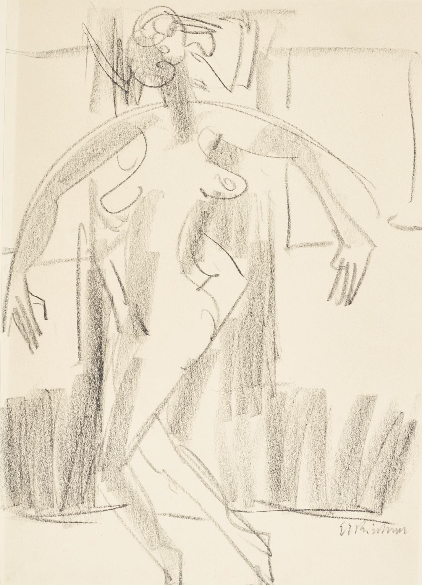 Ernst Ludwig Kirchner-Tanzerin (Dancer)-1934